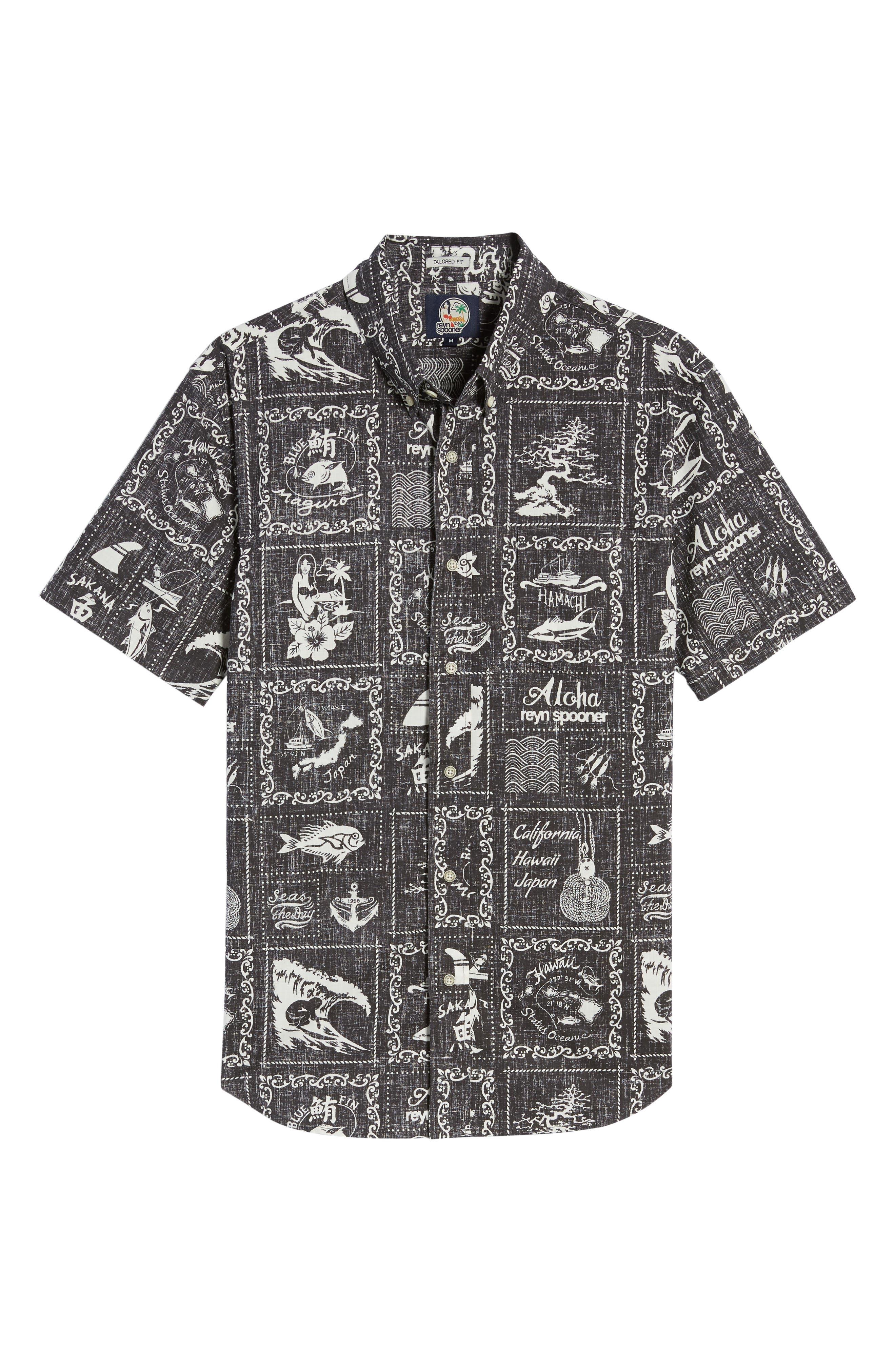 Alternate Image 6  - Reyn Spooner Stories from the East Regular Fit Sport Shirt