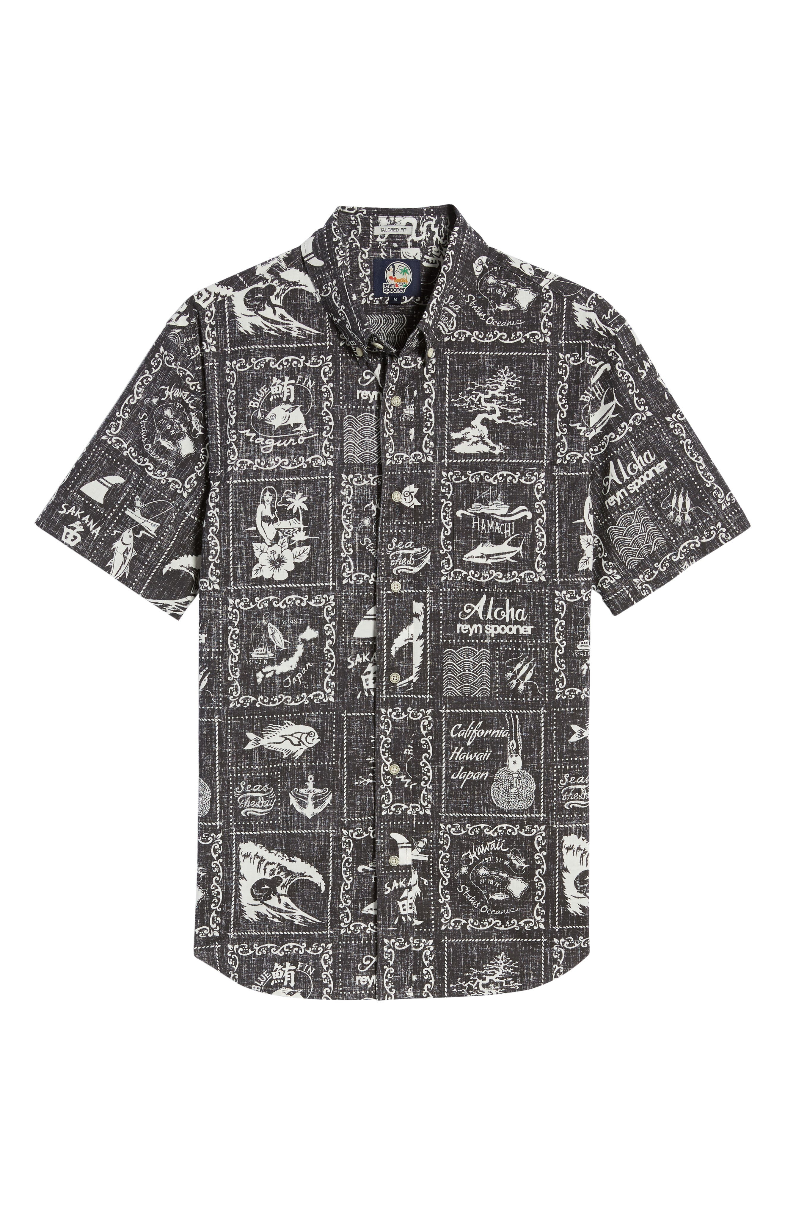 Stories from the East Regular Fit Sport Shirt,                             Alternate thumbnail 6, color,                             Black