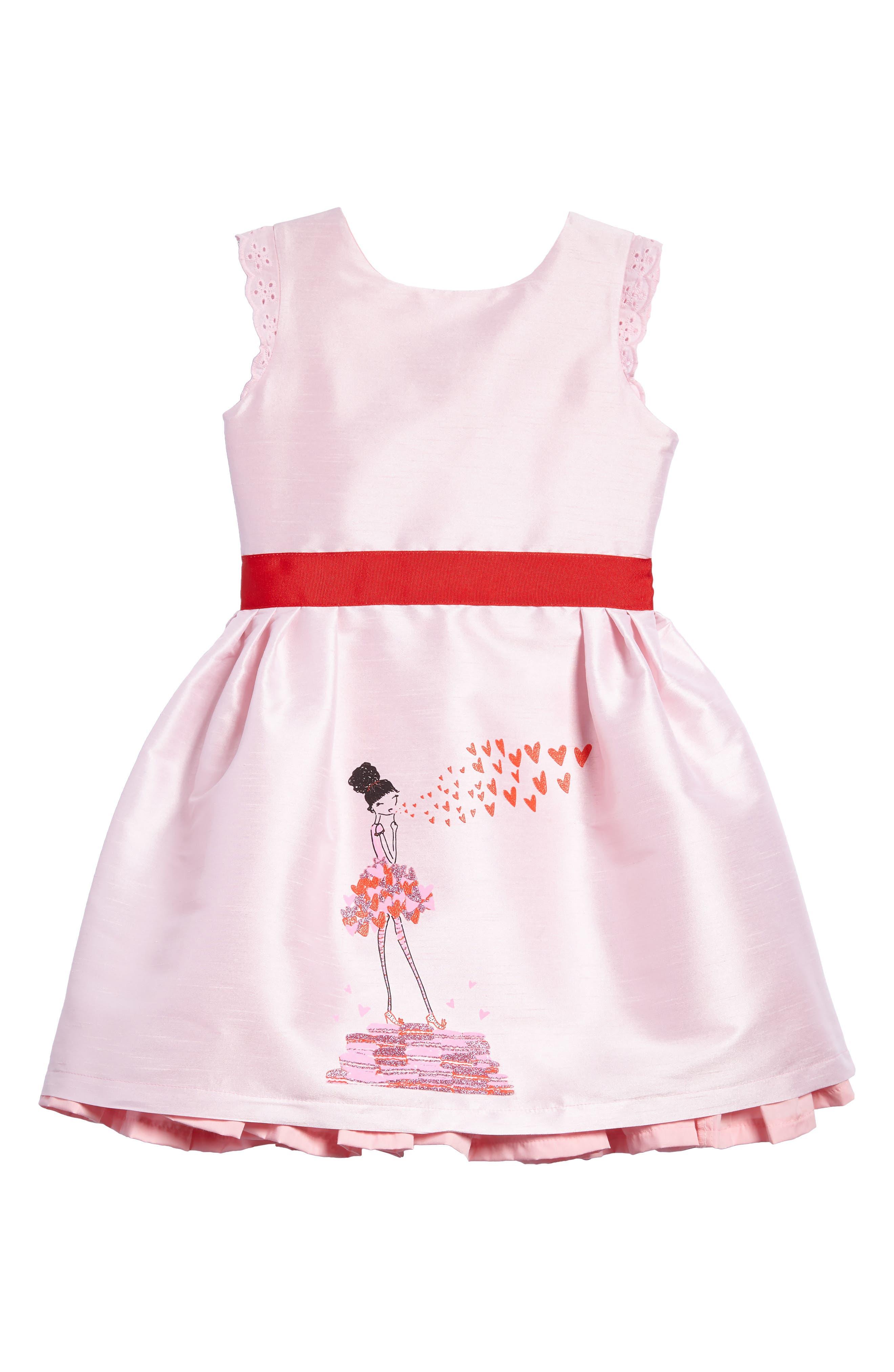Kisses from Paris Party Dress,                             Main thumbnail 1, color,                             Pink