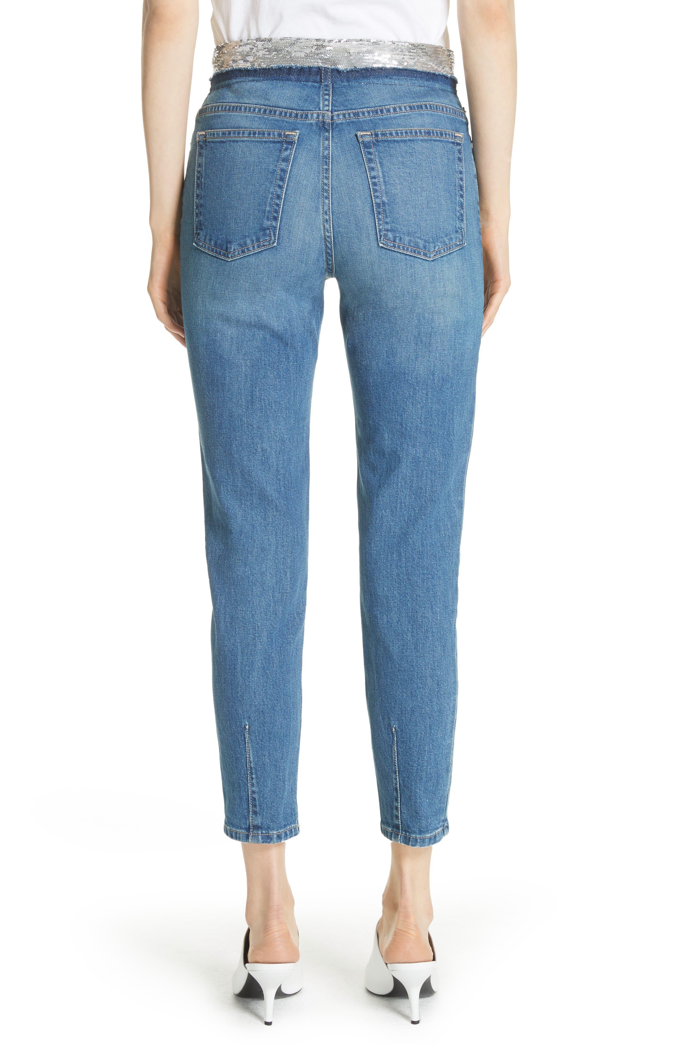 Jones Crop Jeans,                             Alternate thumbnail 2, color,                             Stone Blue