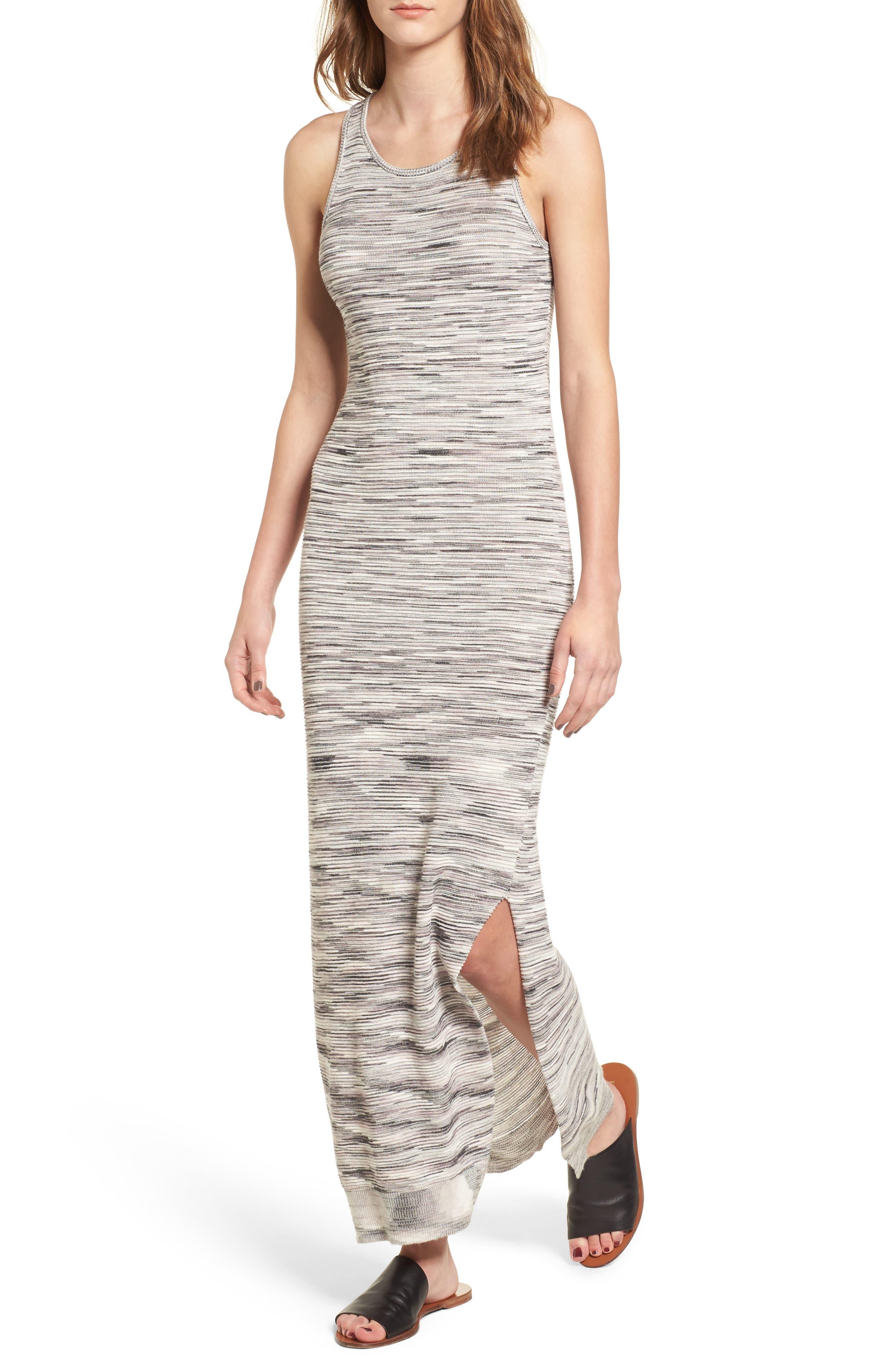 Space Dye Knit Maxi Dress,                             Main thumbnail 1, color,                             Natural Multi