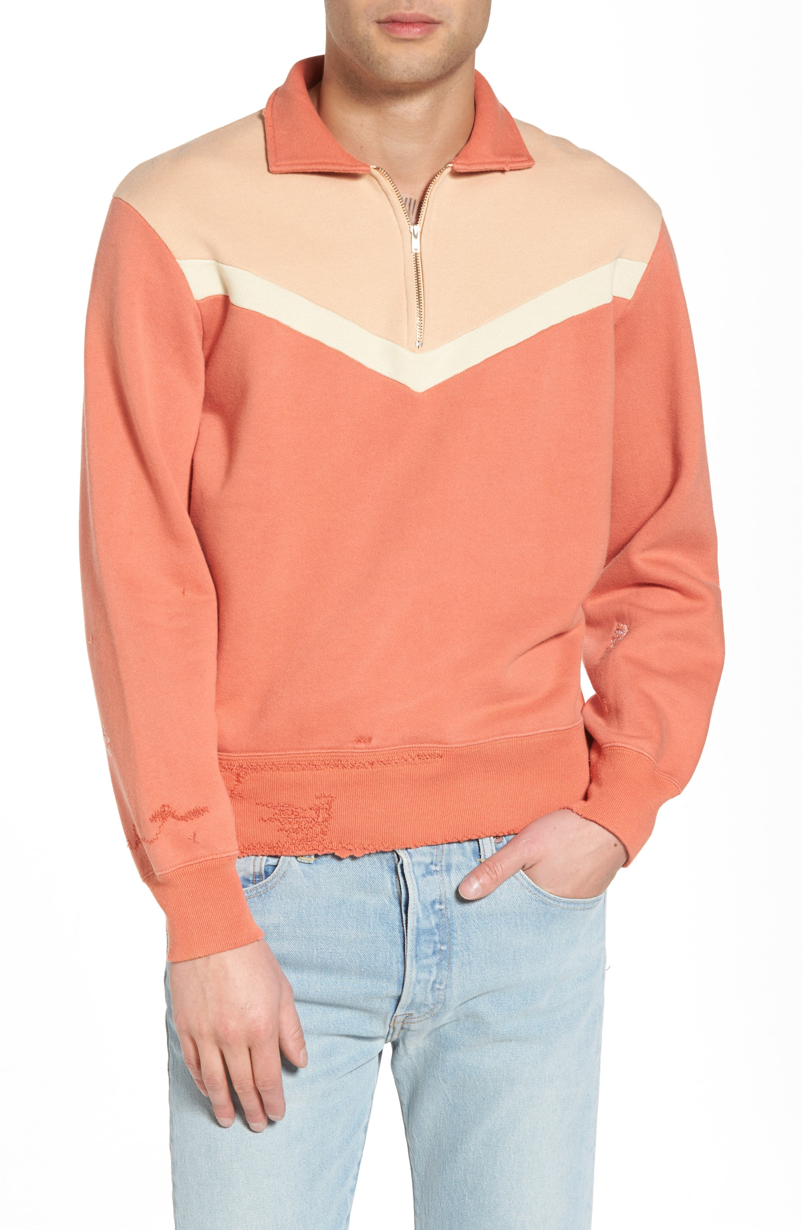 Alternate Image 1 Selected - Levi's® Vintage Clothing Colorblocked Quarter Zip Pullover