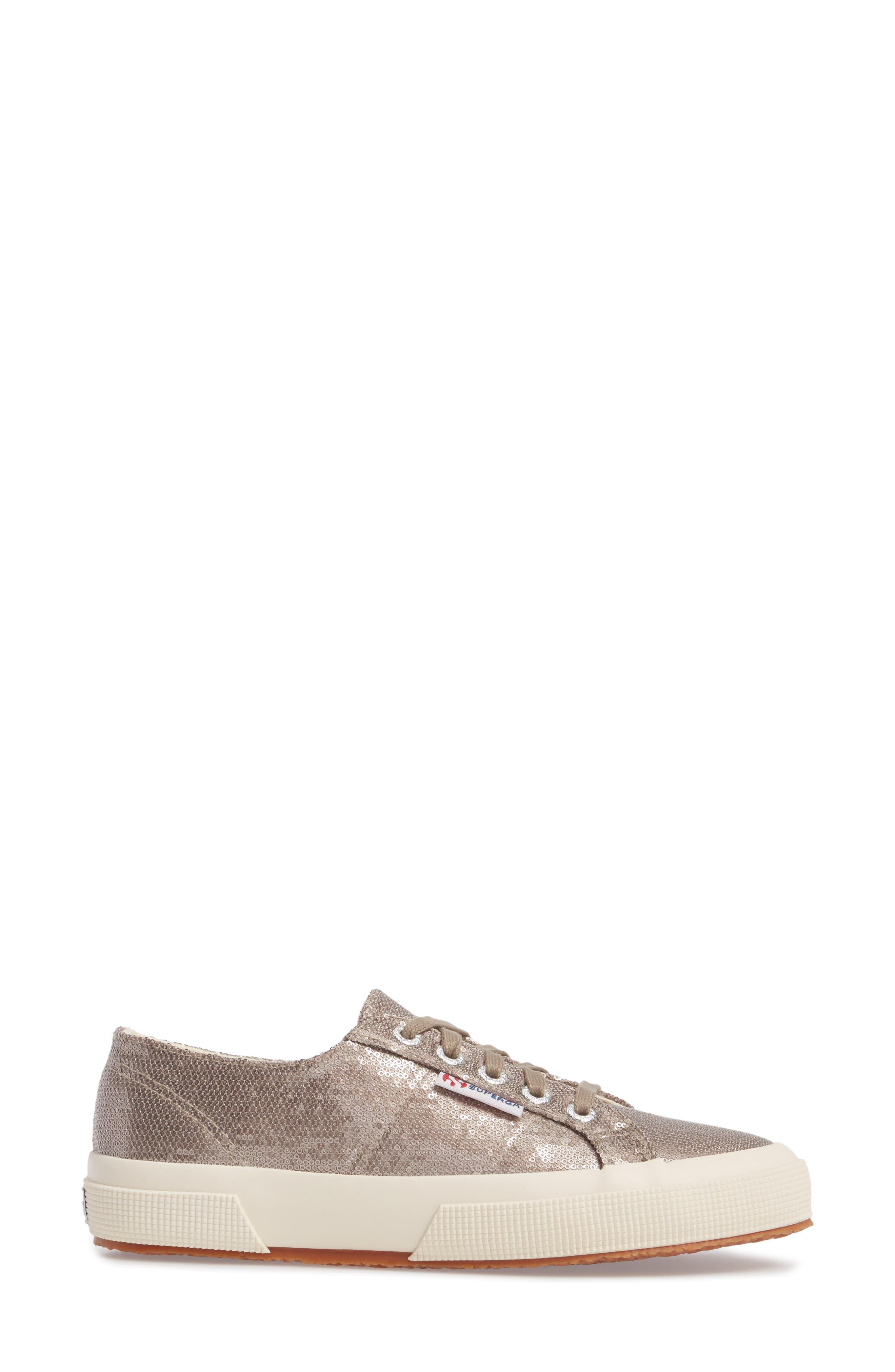 2750 Micro Sequin Sneaker,                             Alternate thumbnail 3, color,                             Bronze