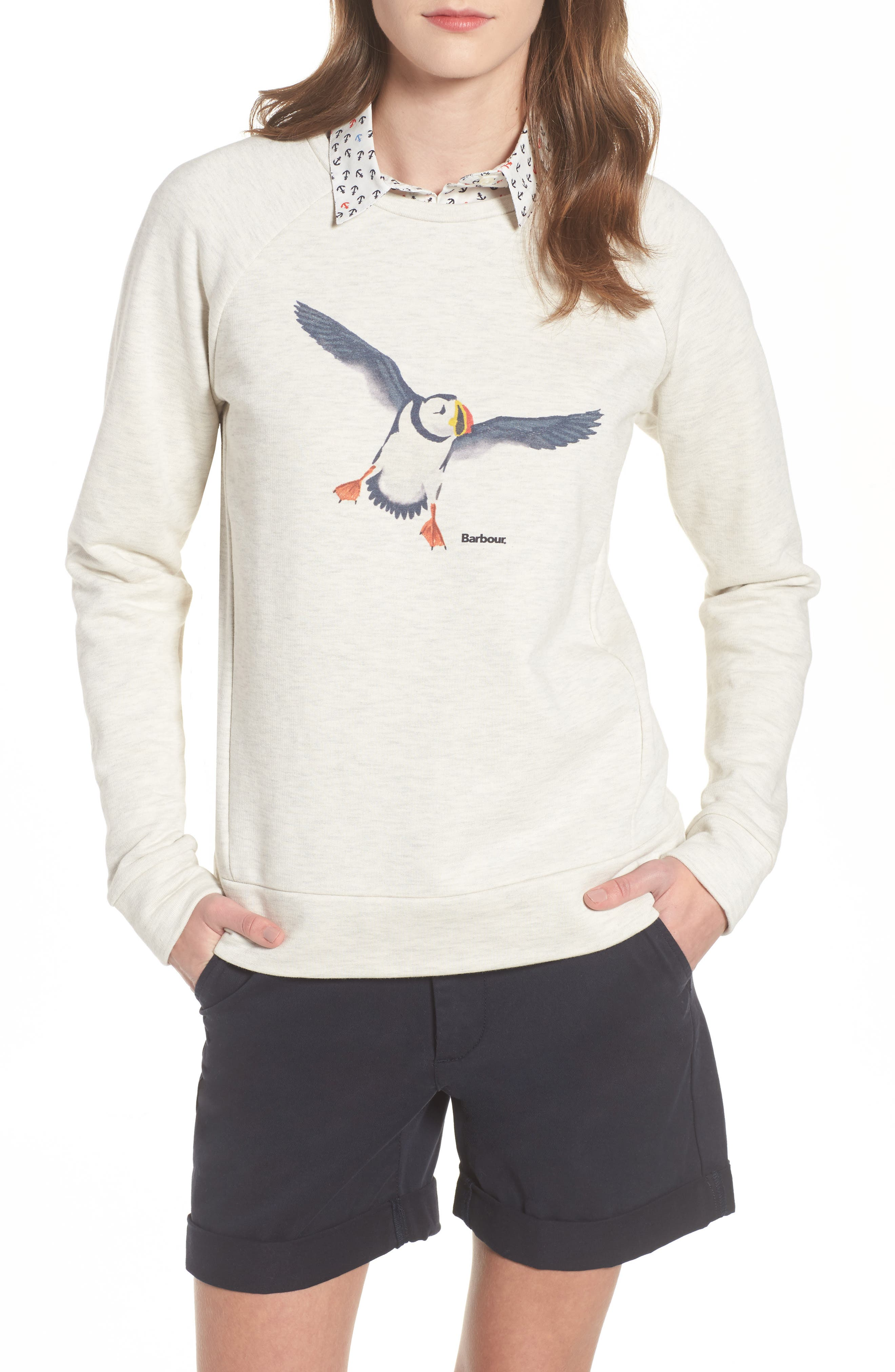 Barbour Morpeth Puffin Print Sweatshirt