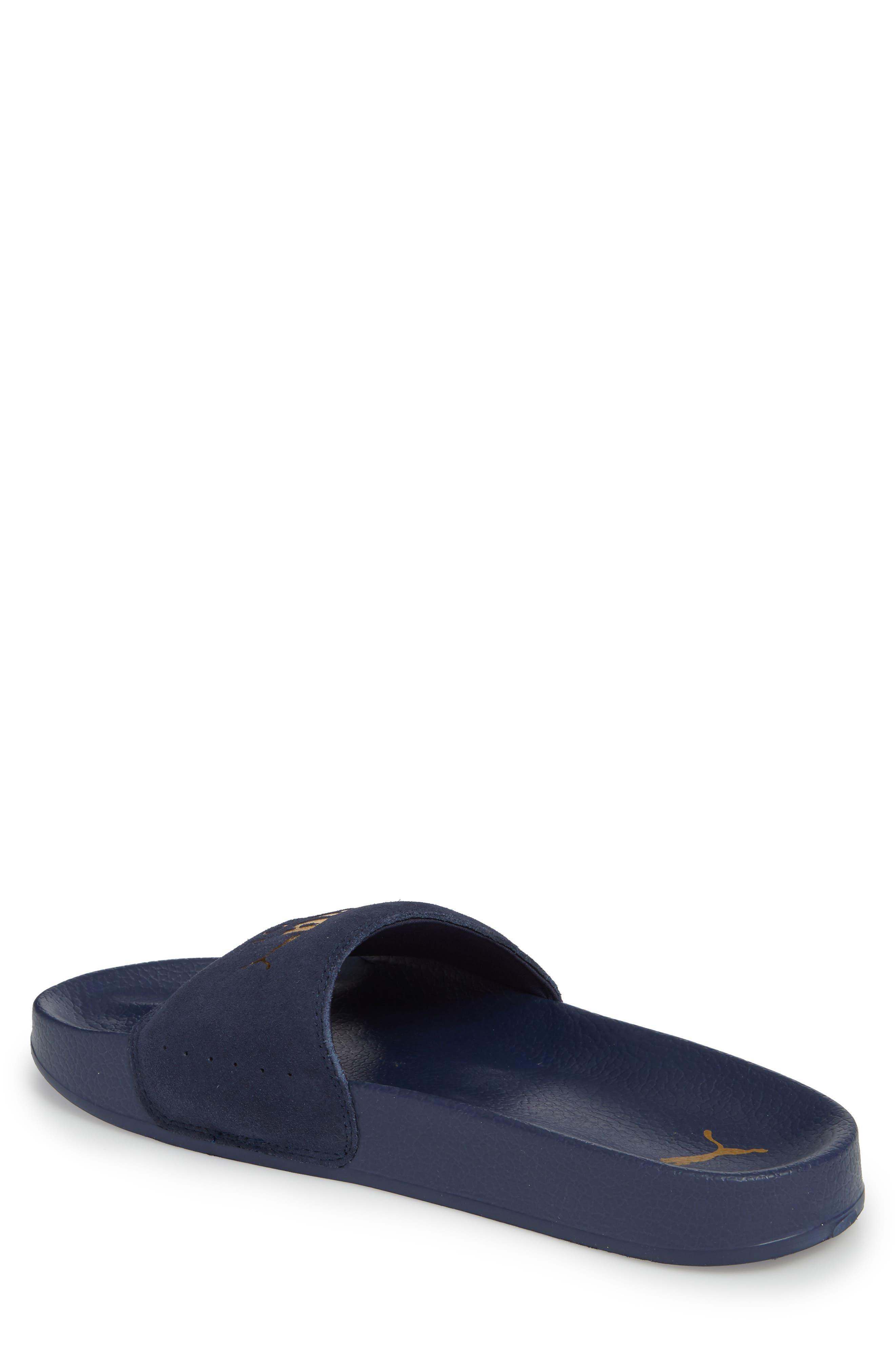 Leadcat Suede Slide Sandal,                             Alternate thumbnail 2, color,                             Peacoat/ Gold Leather/ Suede