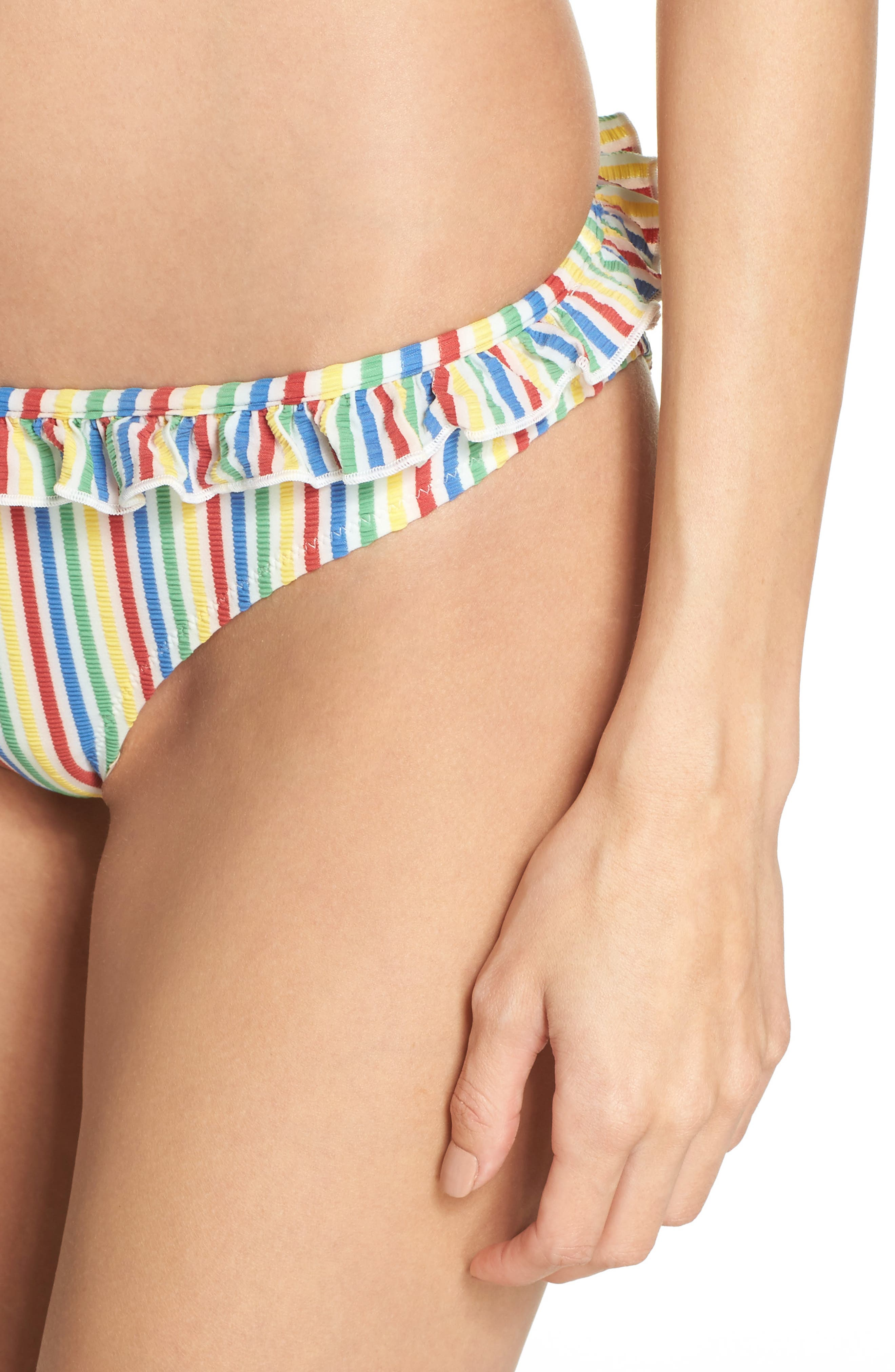 The Milly Bikini Bottoms,                             Alternate thumbnail 4, color,                             Yellow/ Blue/ Pink