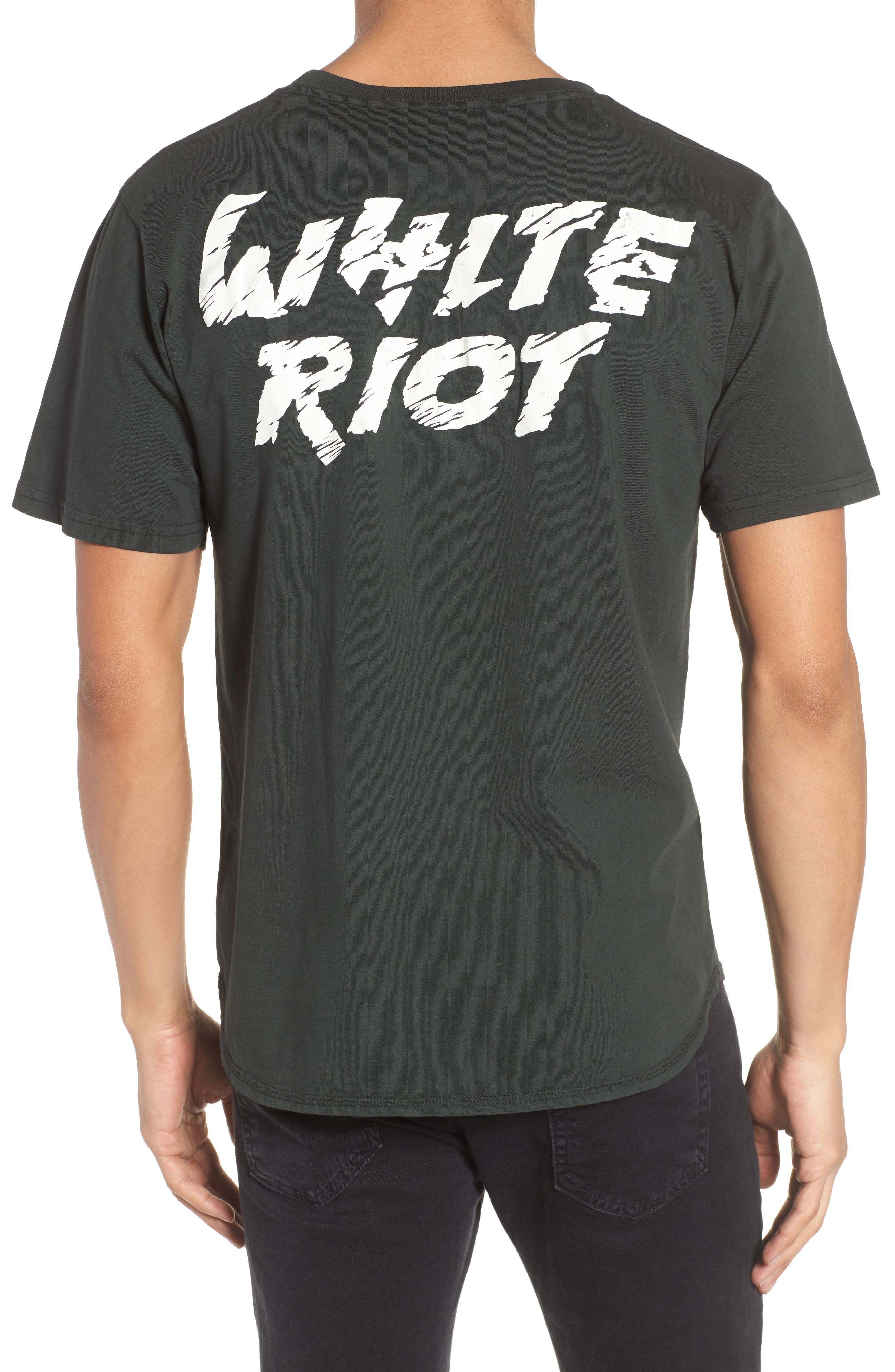 White Riot Graphic T-Shirt,                             Alternate thumbnail 2, color,                             Dusty Black