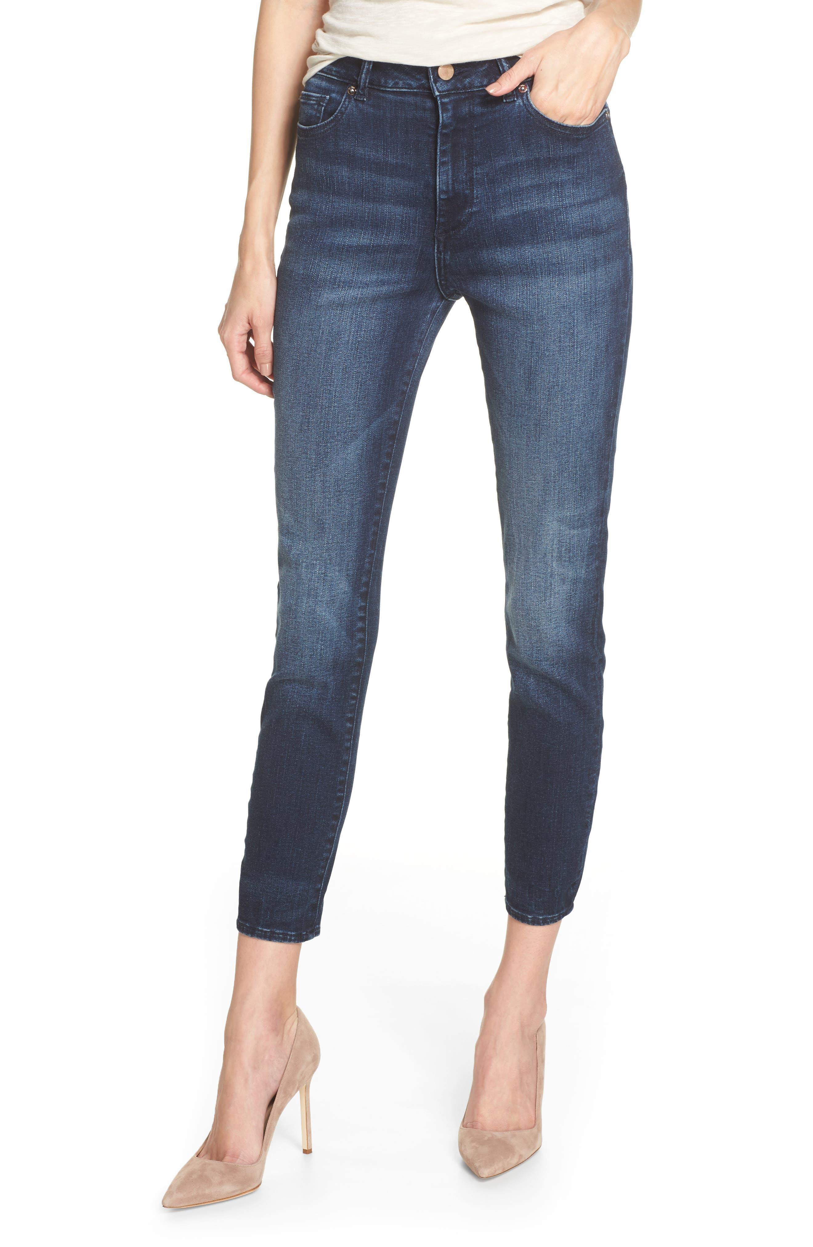 Main Image - DL1961 Chrissy High Waist Ankle Skinny Jeans (Daytona)