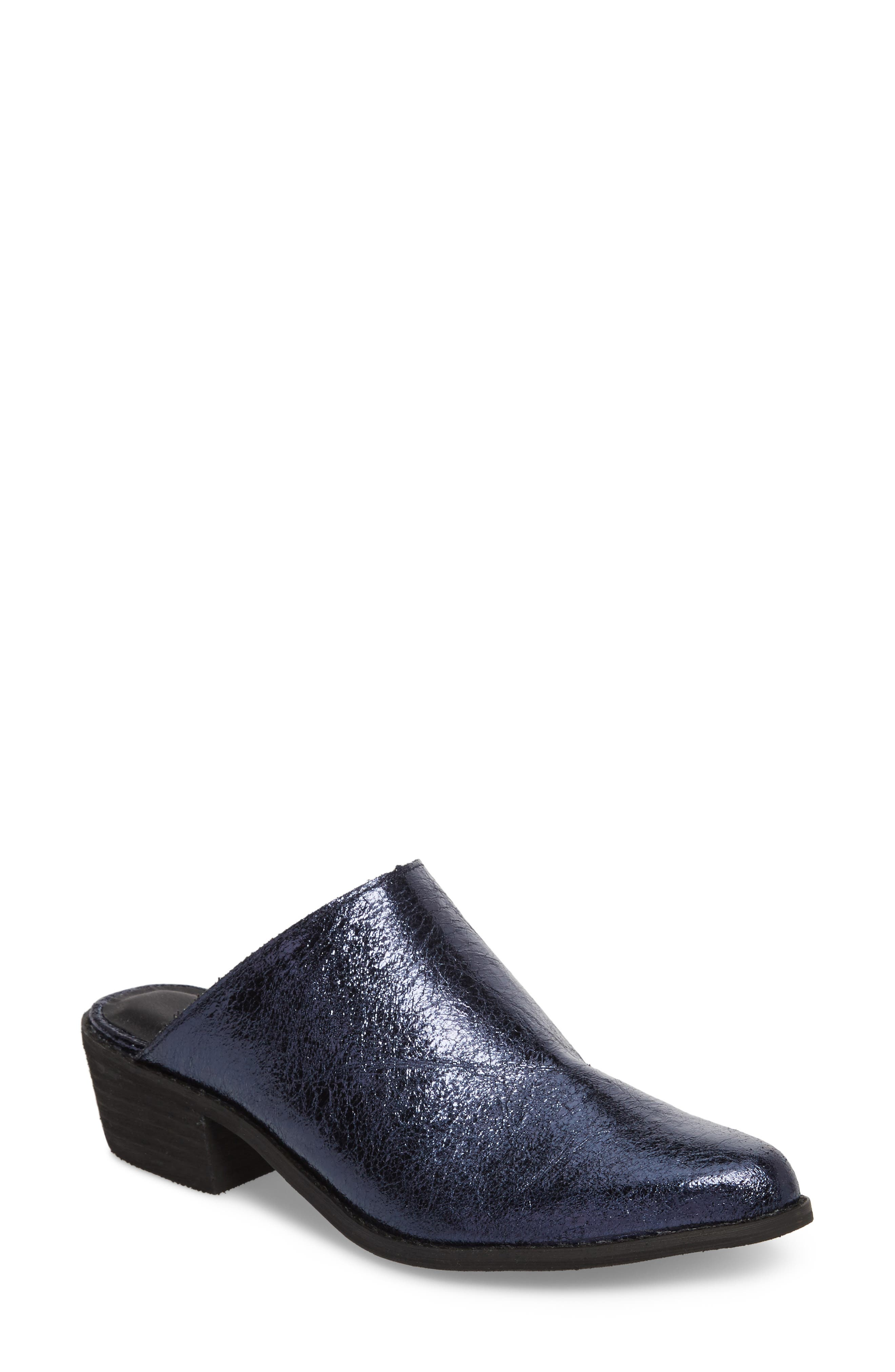 Finesse Mule,                             Main thumbnail 1, color,                             Navy