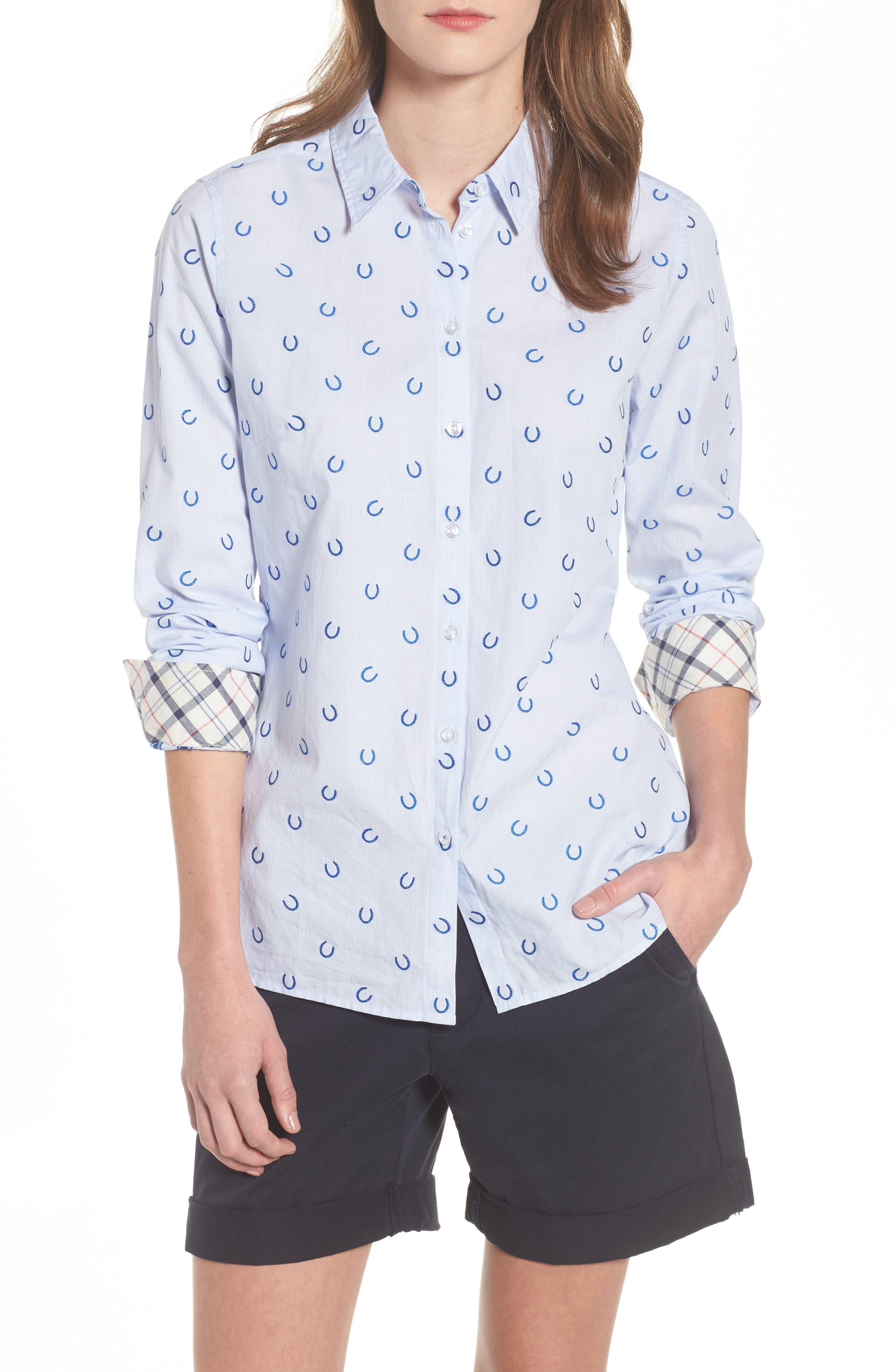Daisyhill Regular Fit Shirt,                             Main thumbnail 1, color,                             Pale Blue