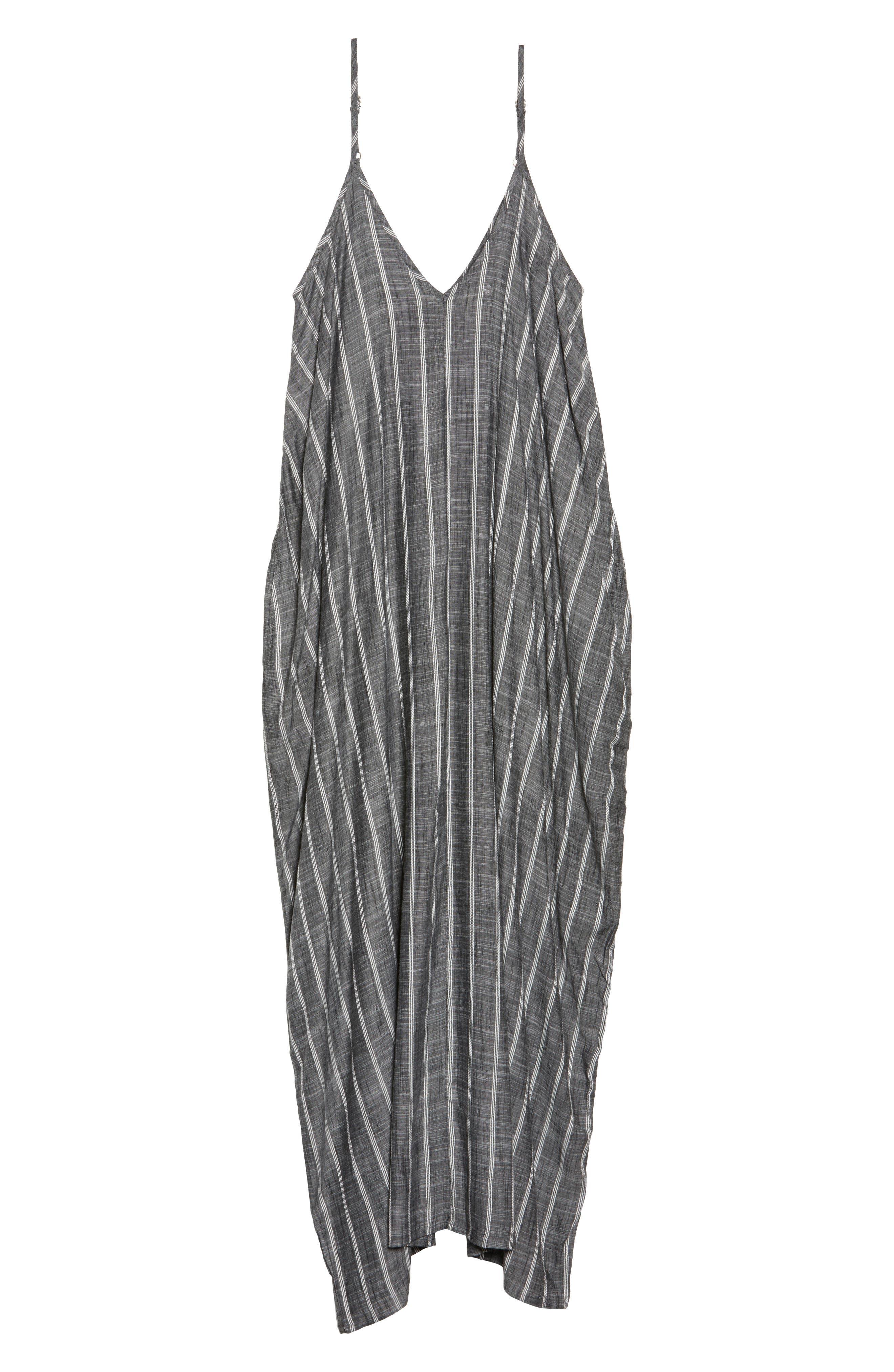 Cover-Up Maxi Dress,                             Alternate thumbnail 6, color,                             Grey