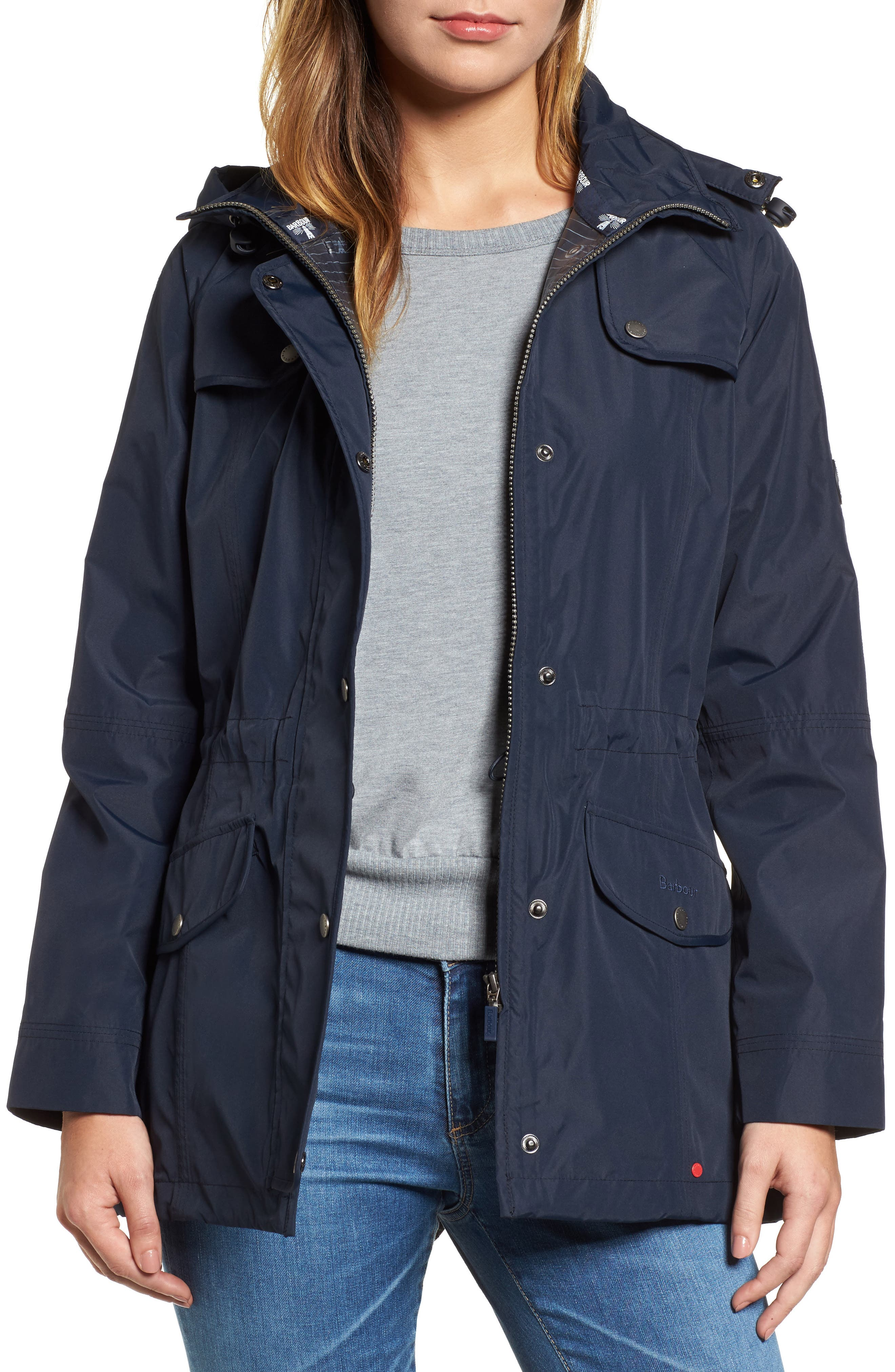 Trevose Hooded Jacket,                             Main thumbnail 1, color,                             Navy