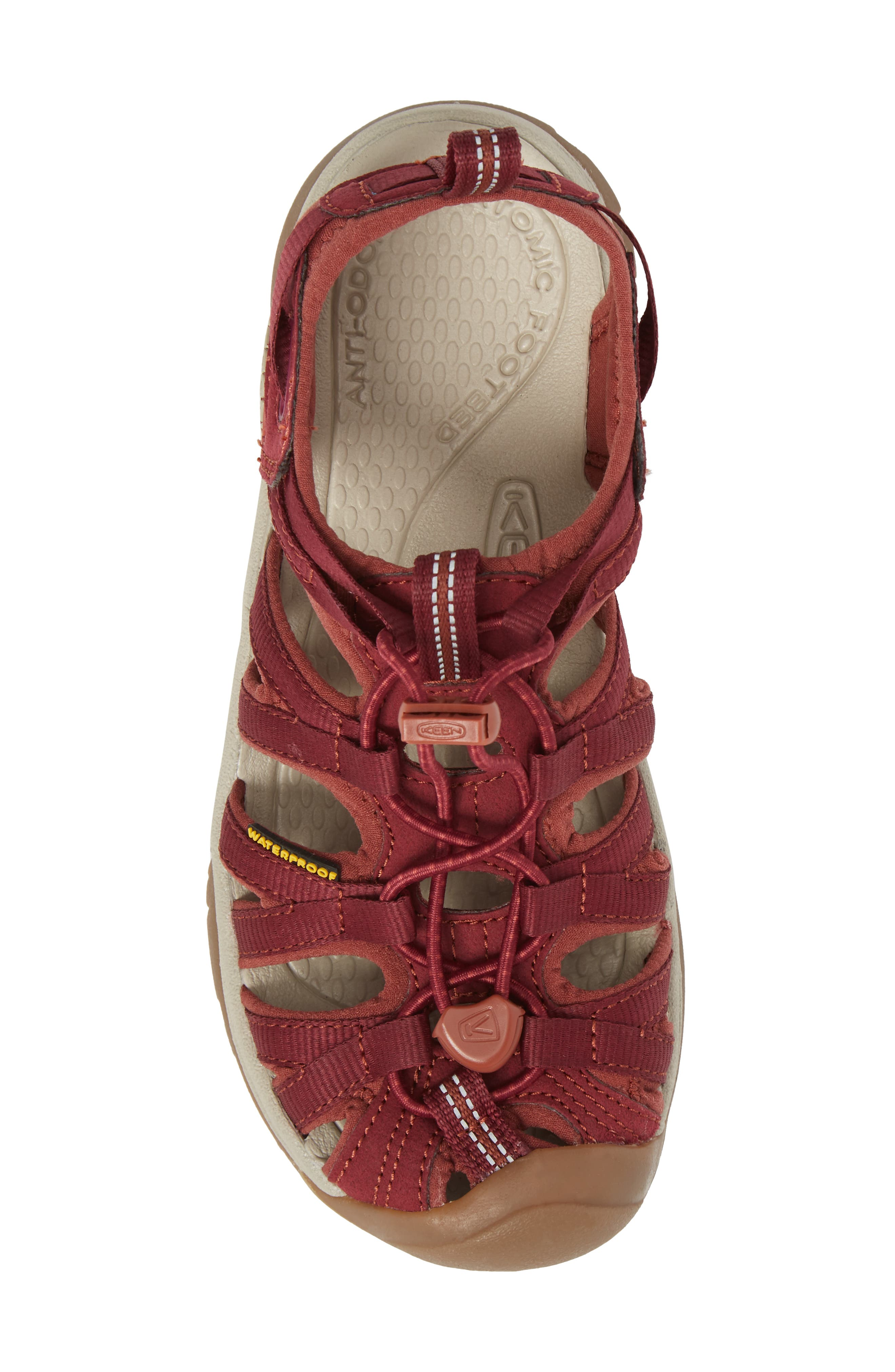 'Whisper' Water Friendly Sport Sandal,                             Alternate thumbnail 5, color,                             Rhododendron/ Marsala