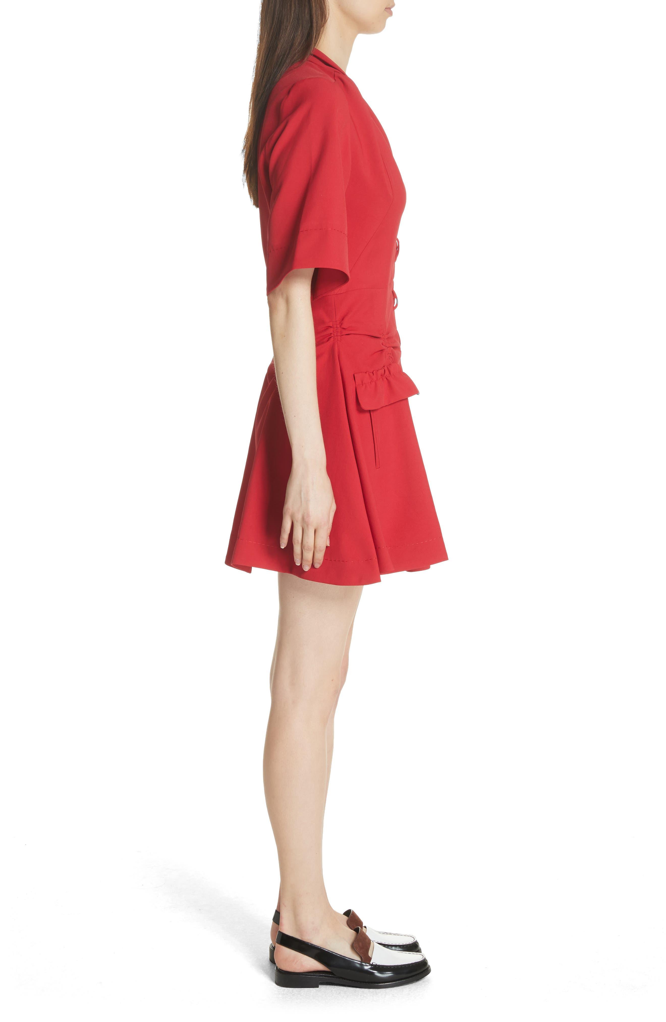 Alternate Image 3  - Carven Robe Courte Lace-Up Dress