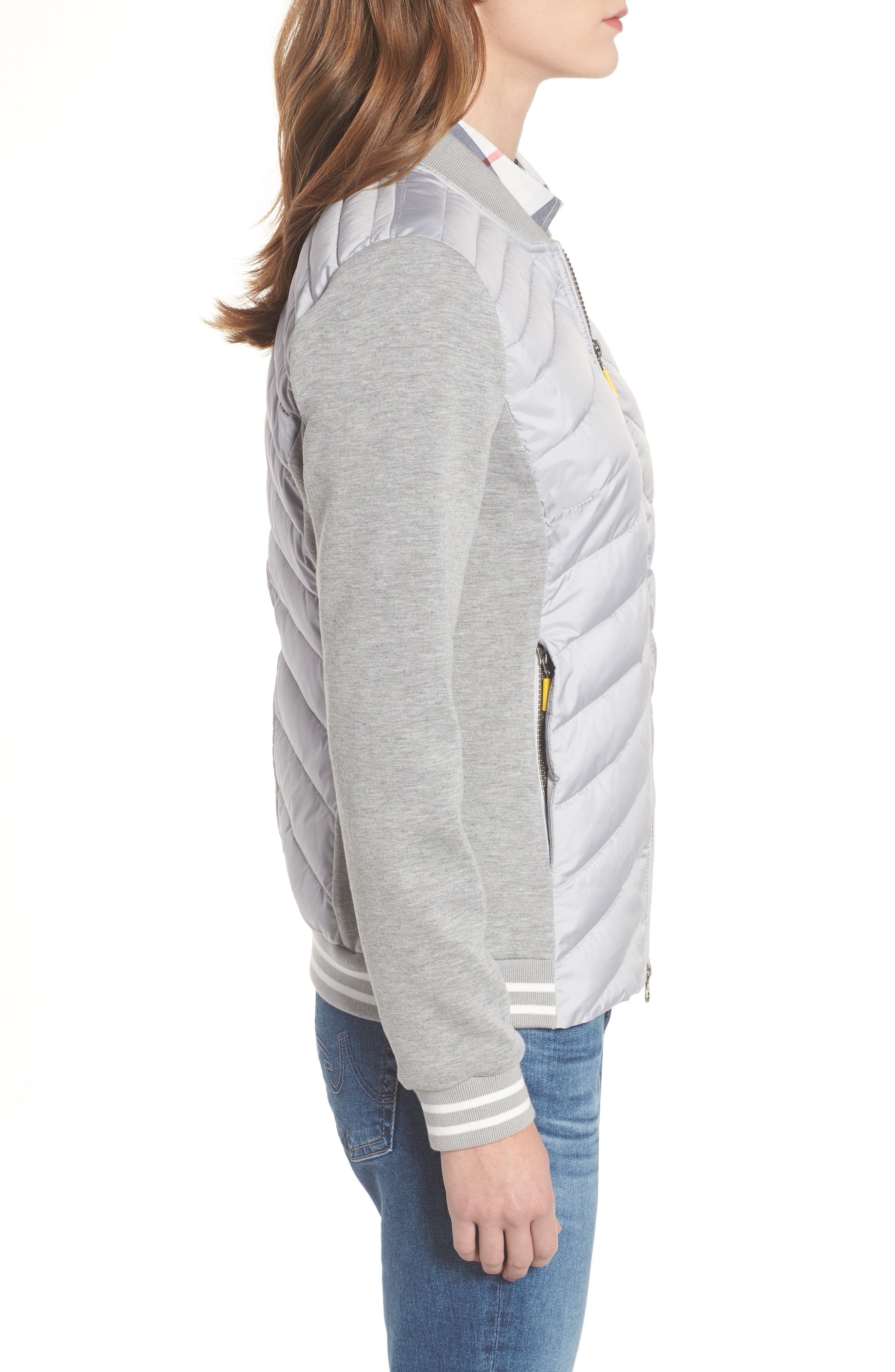 Pembrey Sweatshirt Jacket,                             Alternate thumbnail 3, color,                             Ice White