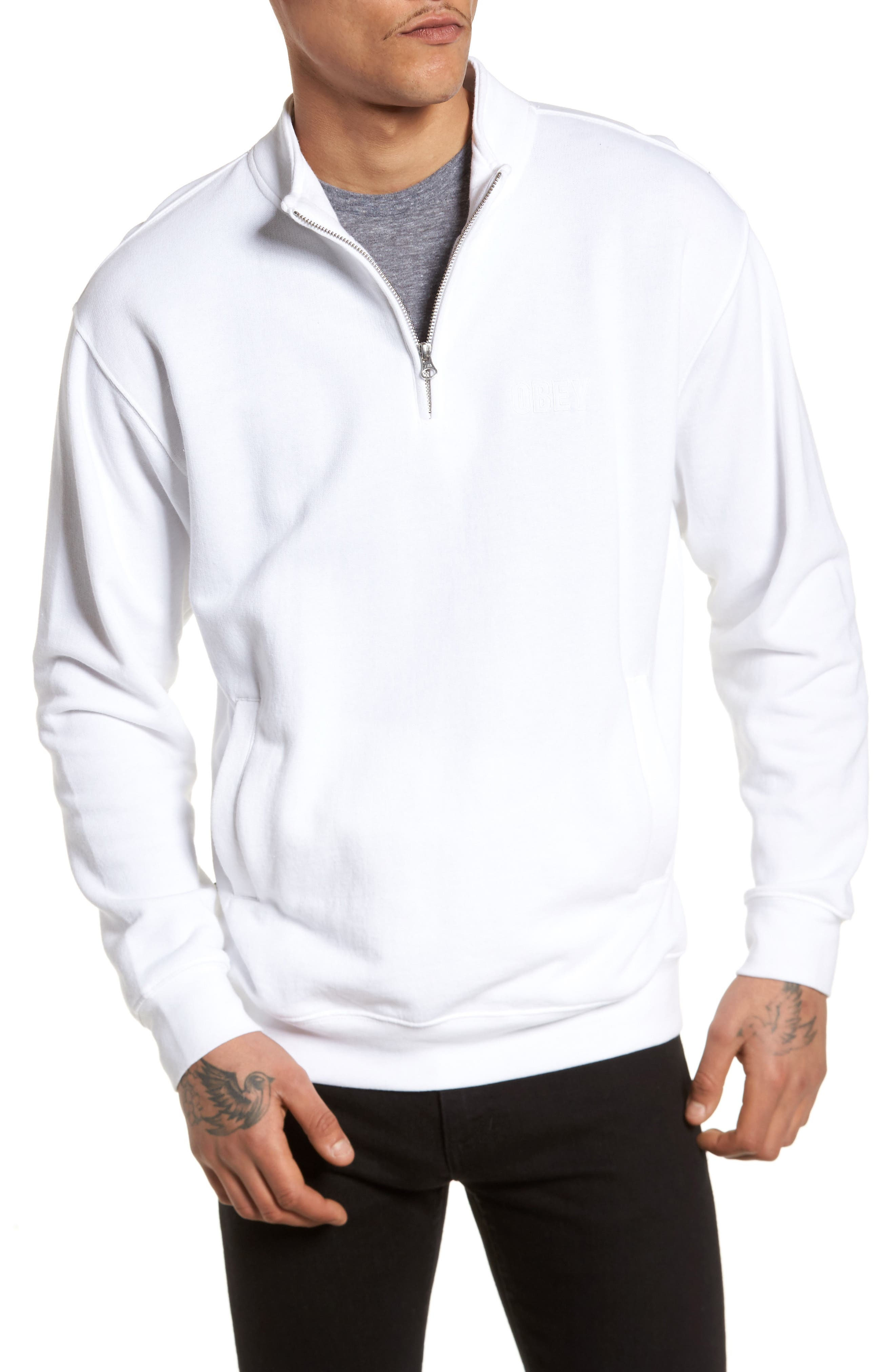 Main Image - Obey Atomatic Quarter-Zip Fleece Pullover