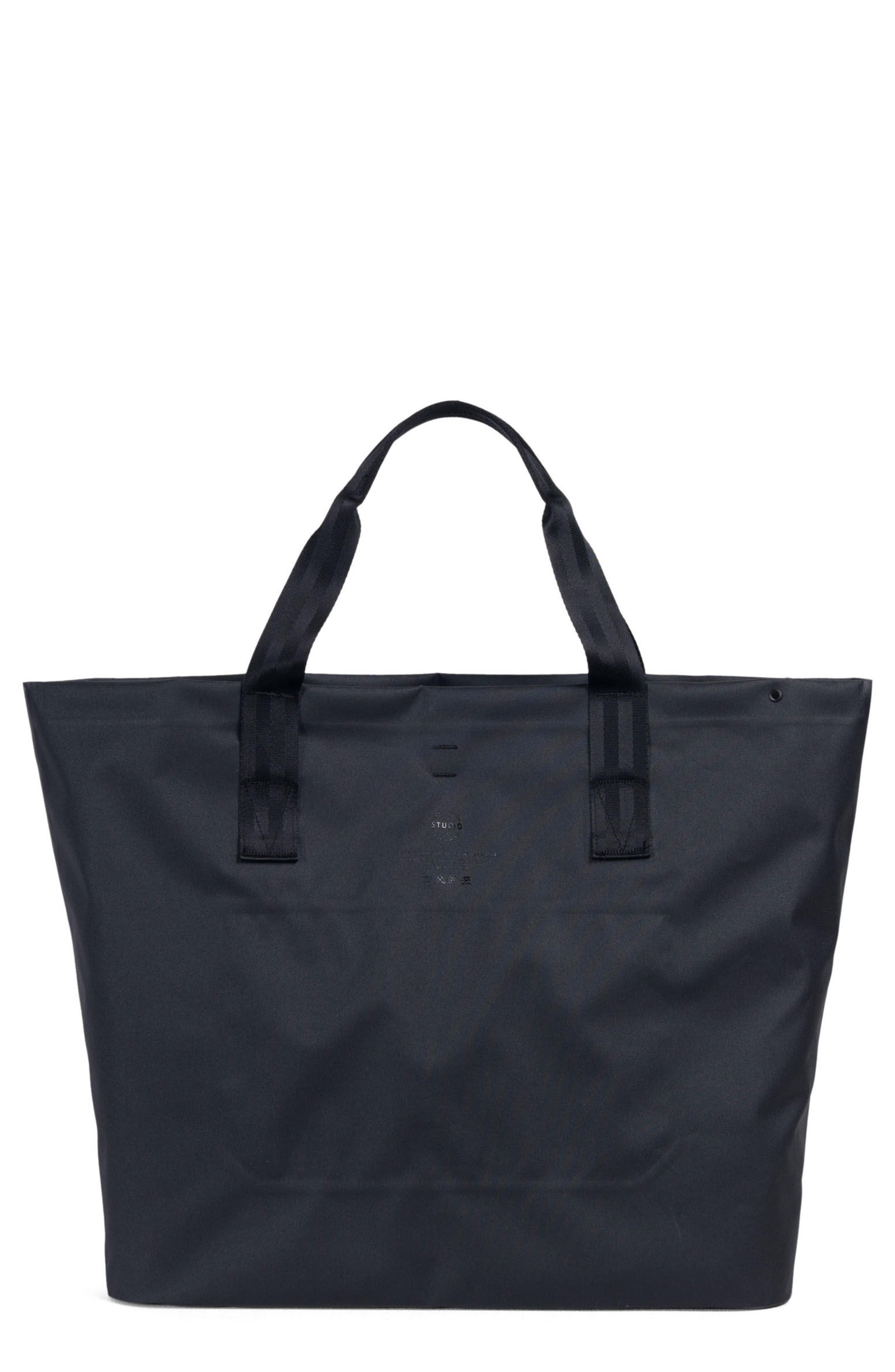 Tarpaulin Alexander Studio Tote Bag,                             Main thumbnail 1, color,                             Black