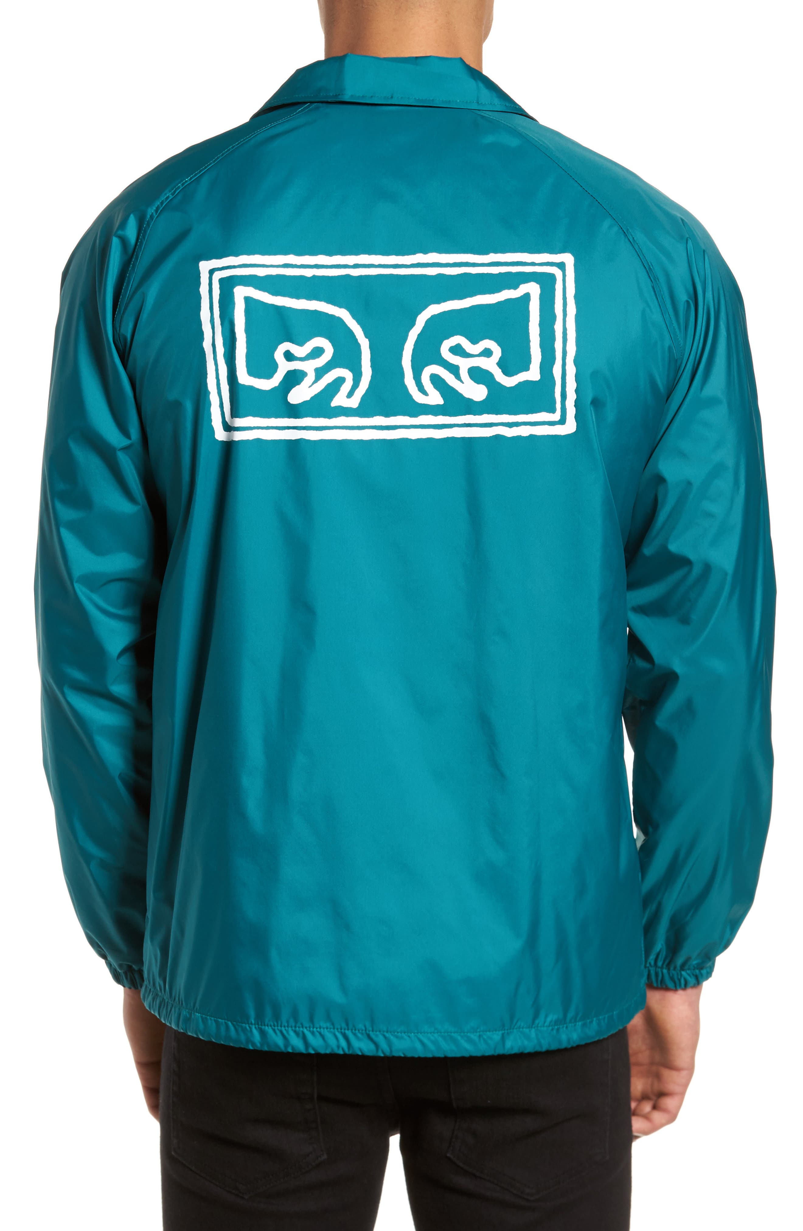Eyes Coaches Jacket,                             Alternate thumbnail 2, color,                             Teal