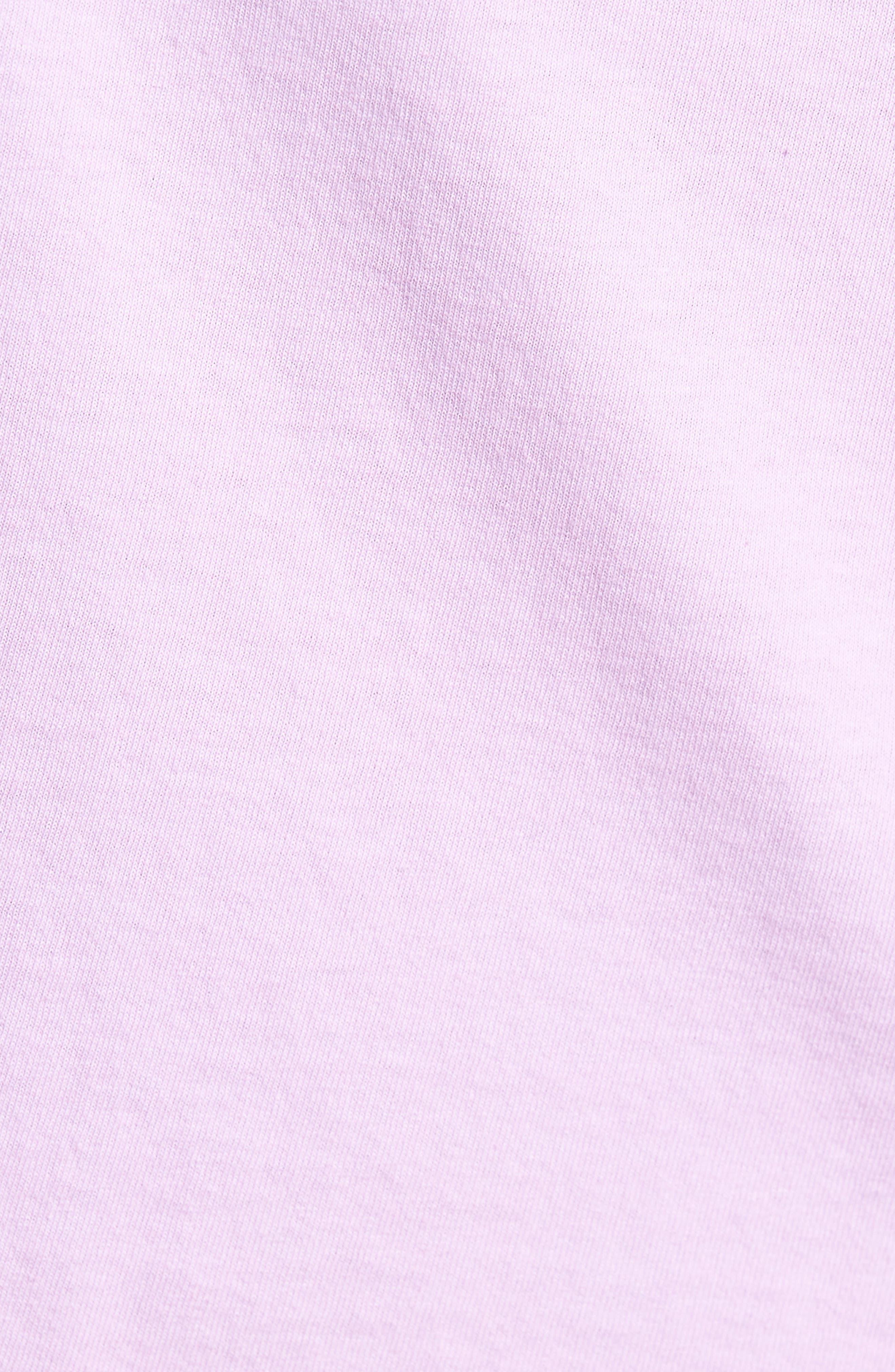 Flashback Pigment Dyed T-Shirt,                             Alternate thumbnail 5, color,                             Dusty Lavender