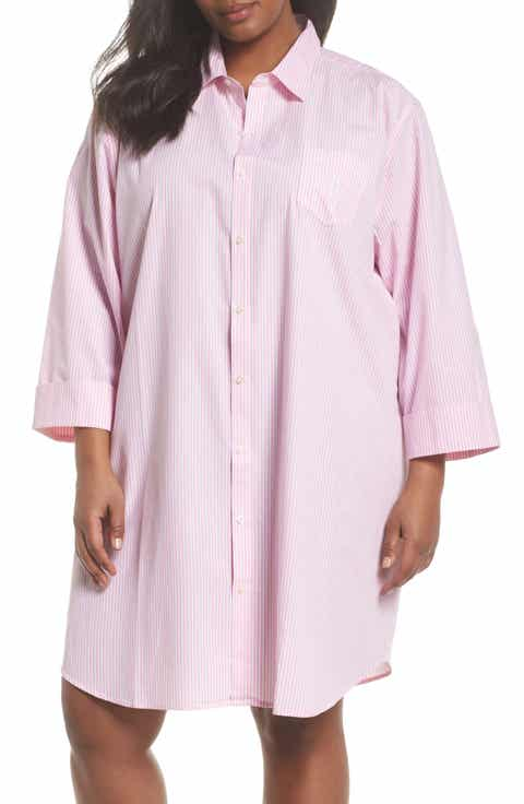 Lauren Ralph Lauren Sleep Shirt (Plus Size)