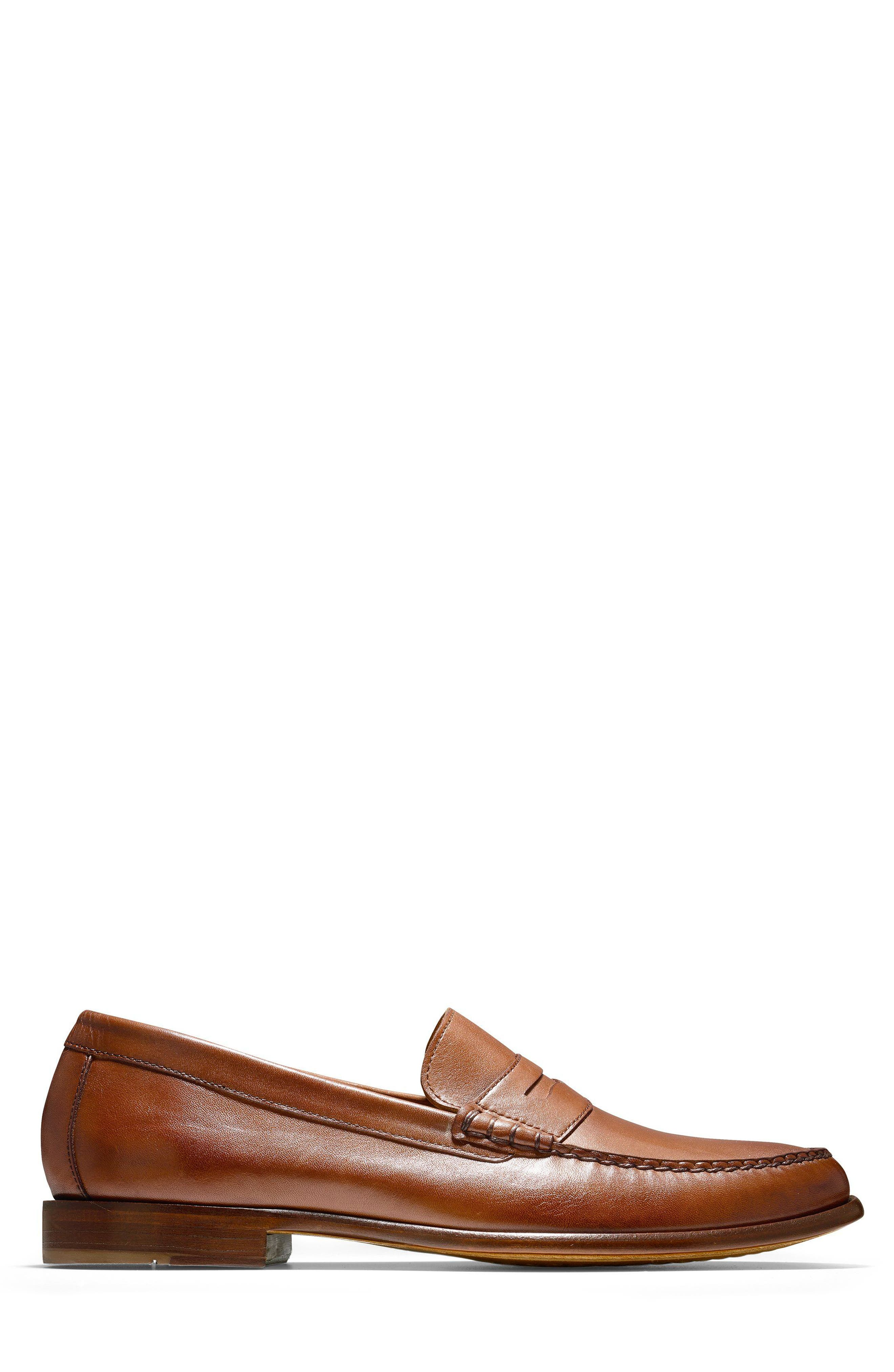 Pinch Penny Loafer,                             Alternate thumbnail 3, color,                             British Tan Leather