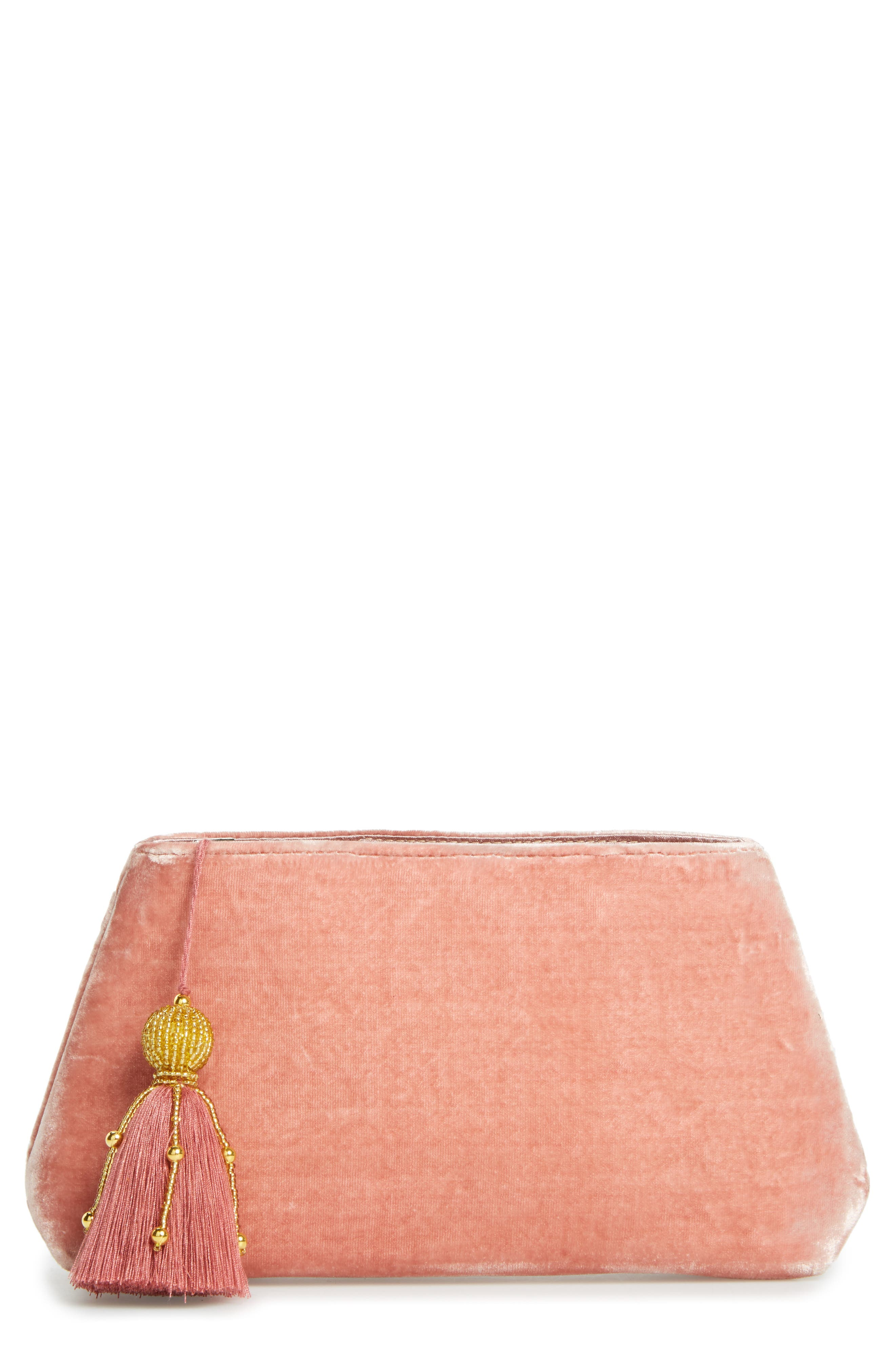 Alternate Image 1 Selected - Shiraleah Larissa Velvet Zip Pouch