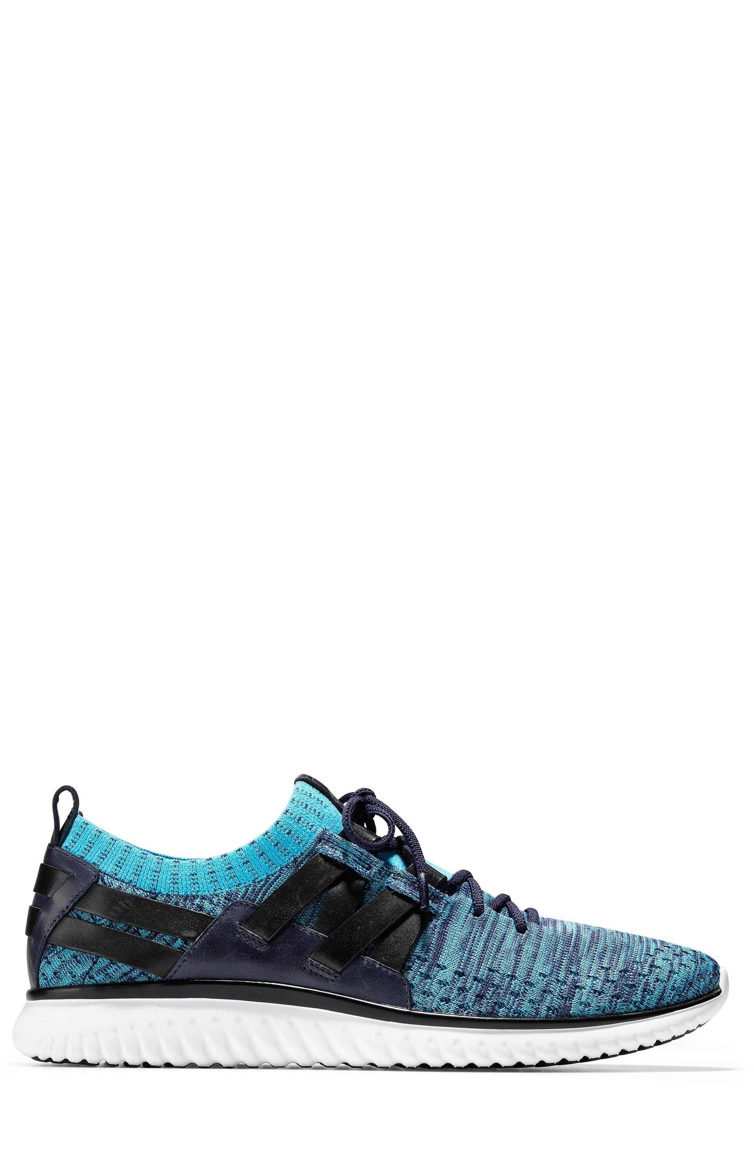 GrandMøtion Stitchlite<sup>™</sup> Woven Sneaker,                             Alternate thumbnail 3, color,                             Marine Blue