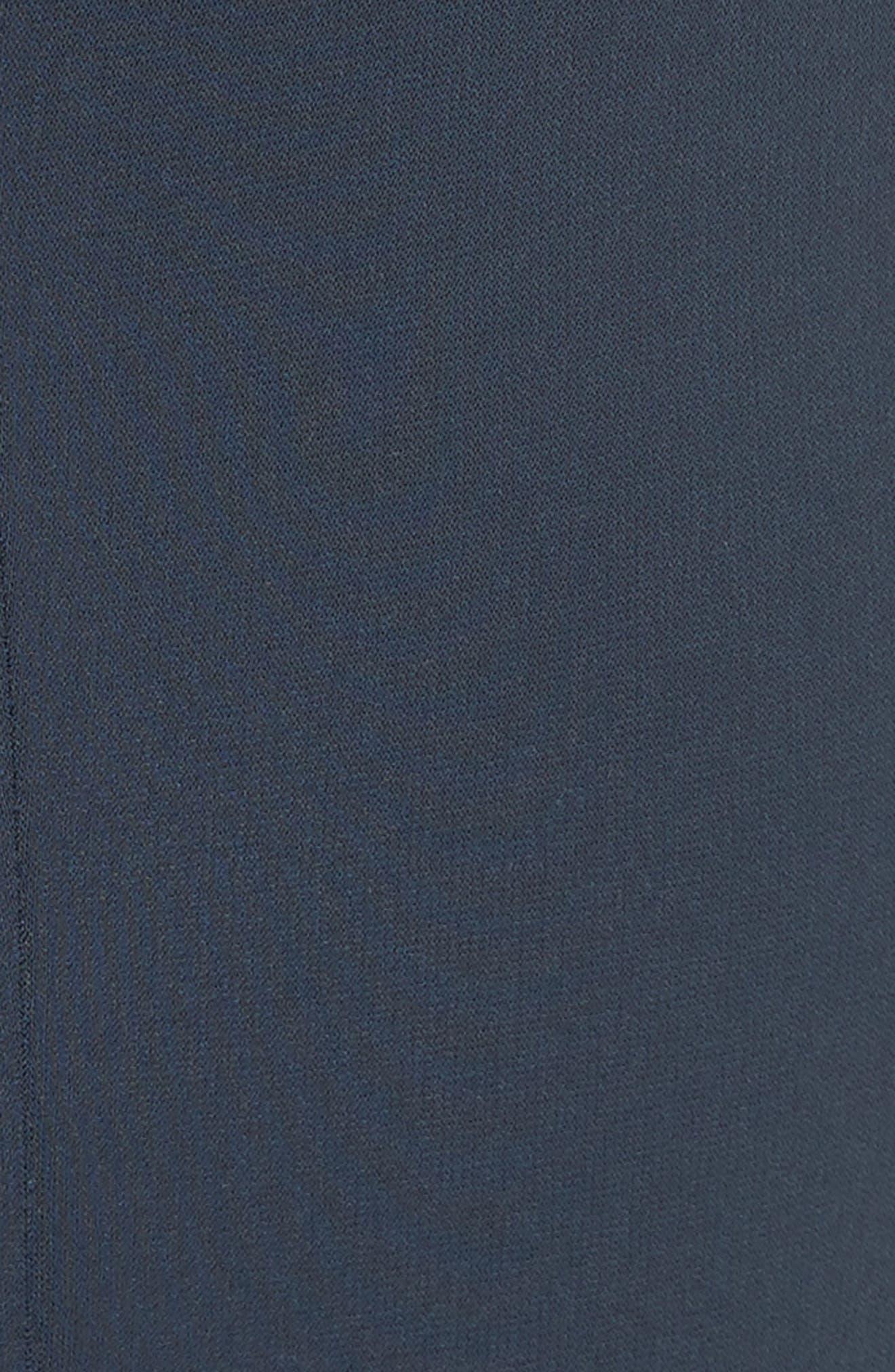 Yoke Waist Crop Pants,                             Alternate thumbnail 5, color,                             Navy