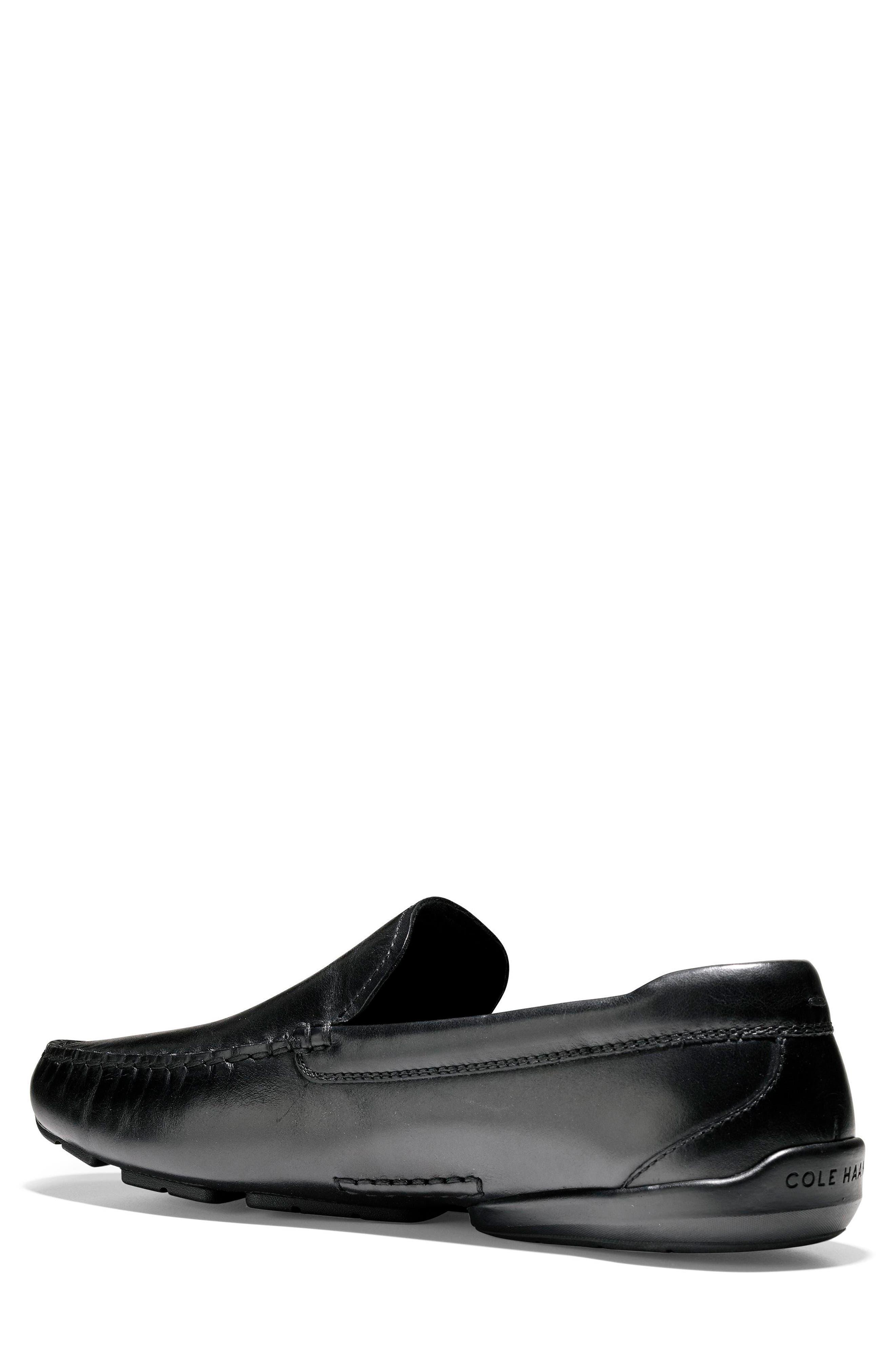 Branson Driving Shoe,                             Alternate thumbnail 2, color,                             Black Leather