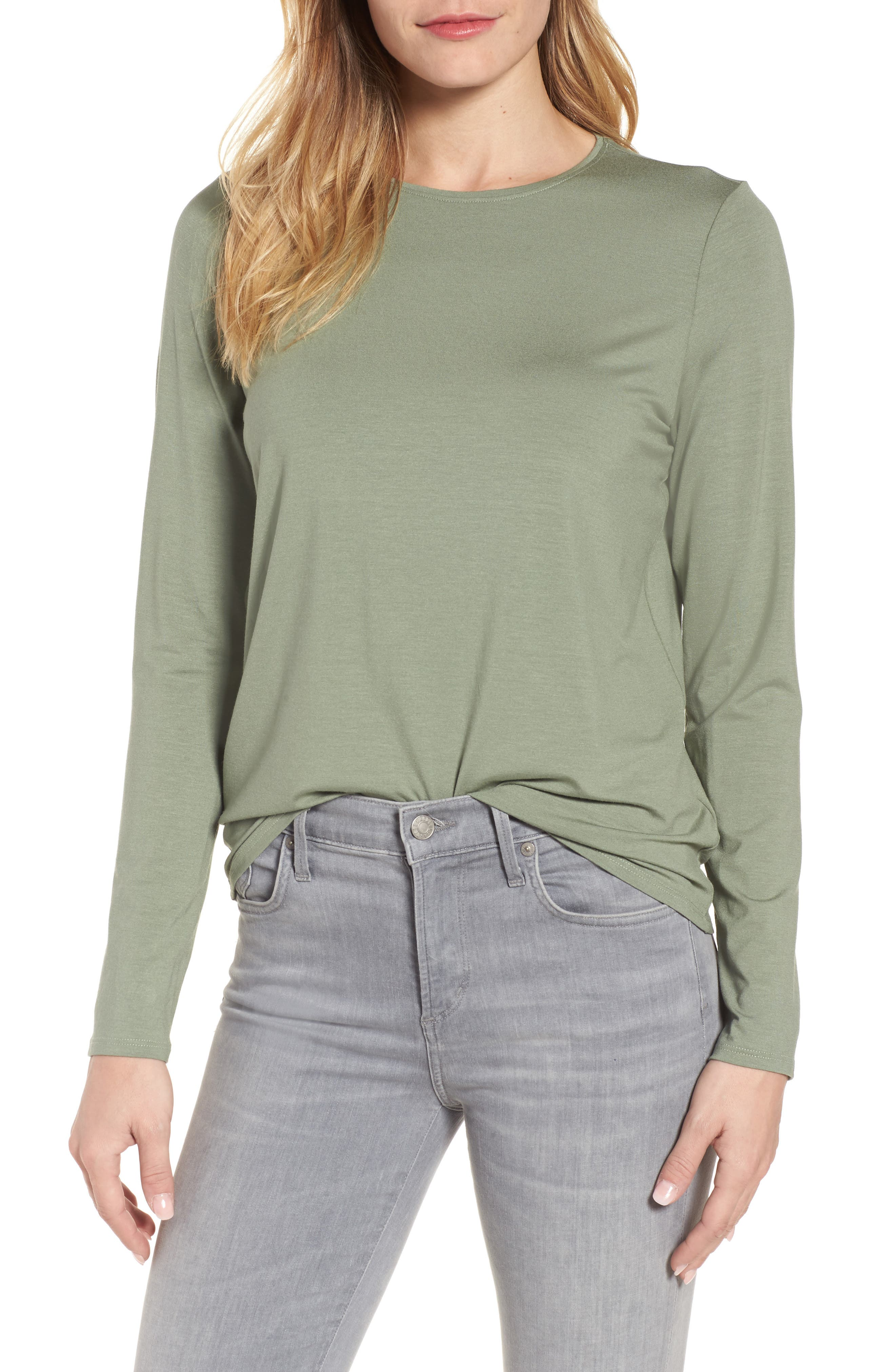 Alternate Image 1 Selected - Eileen Fisher Crewneck Tee