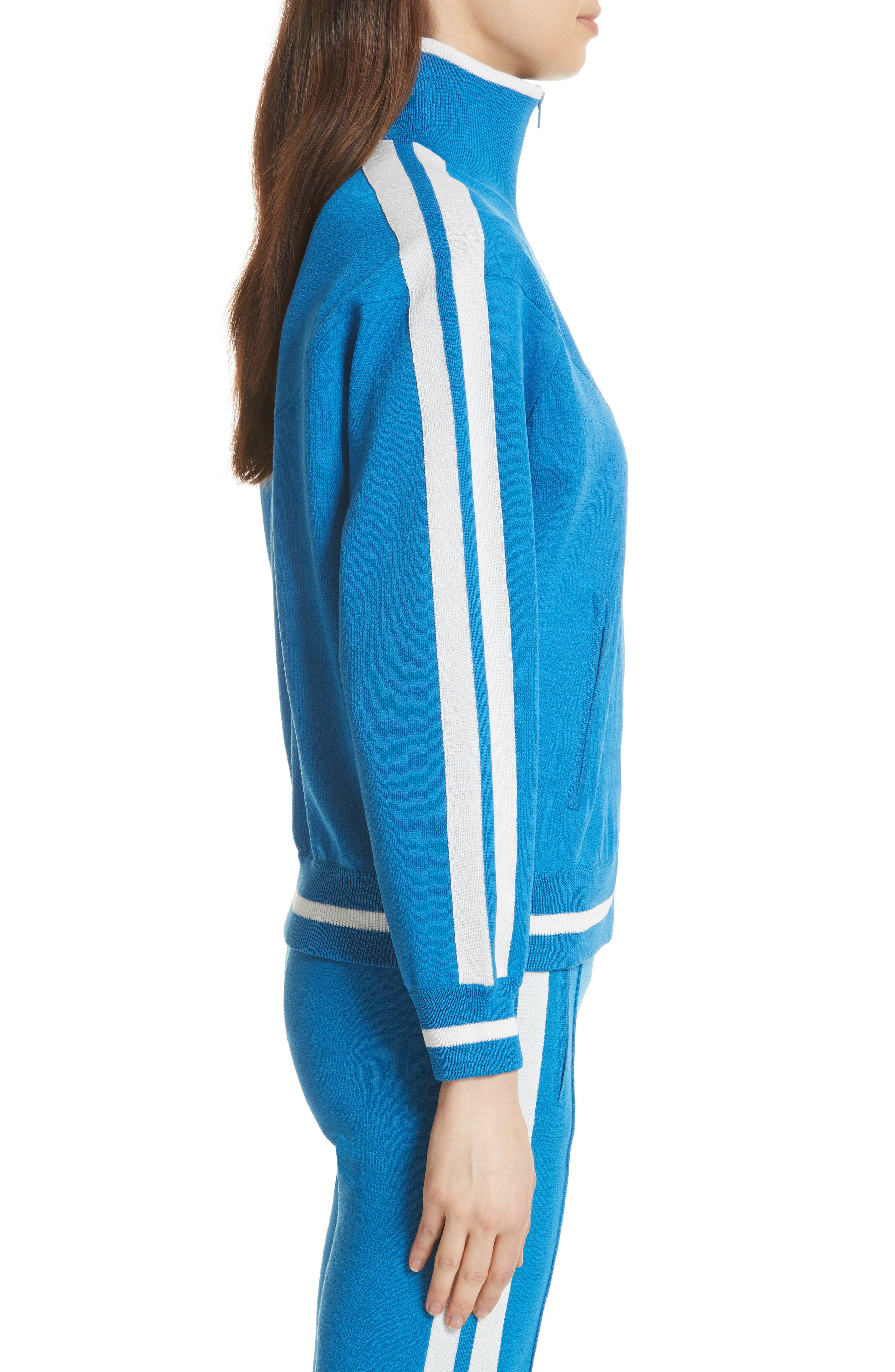 Isabel Marant Étoile Darcy Track Jacket,                             Alternate thumbnail 5, color,                             Electric Blue