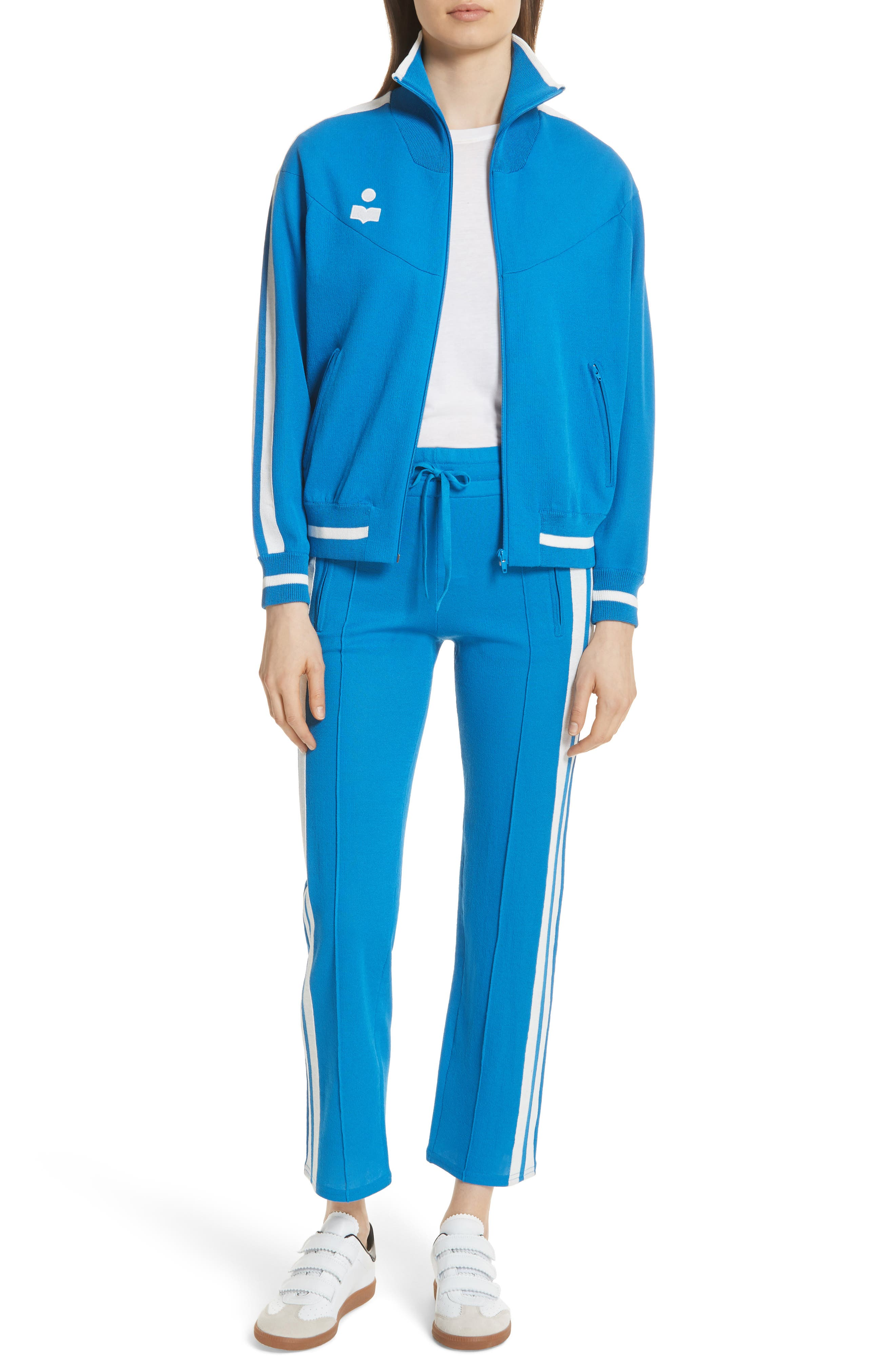 Isabel Marant Étoile Darcy Track Jacket,                             Alternate thumbnail 2, color,                             Electric Blue