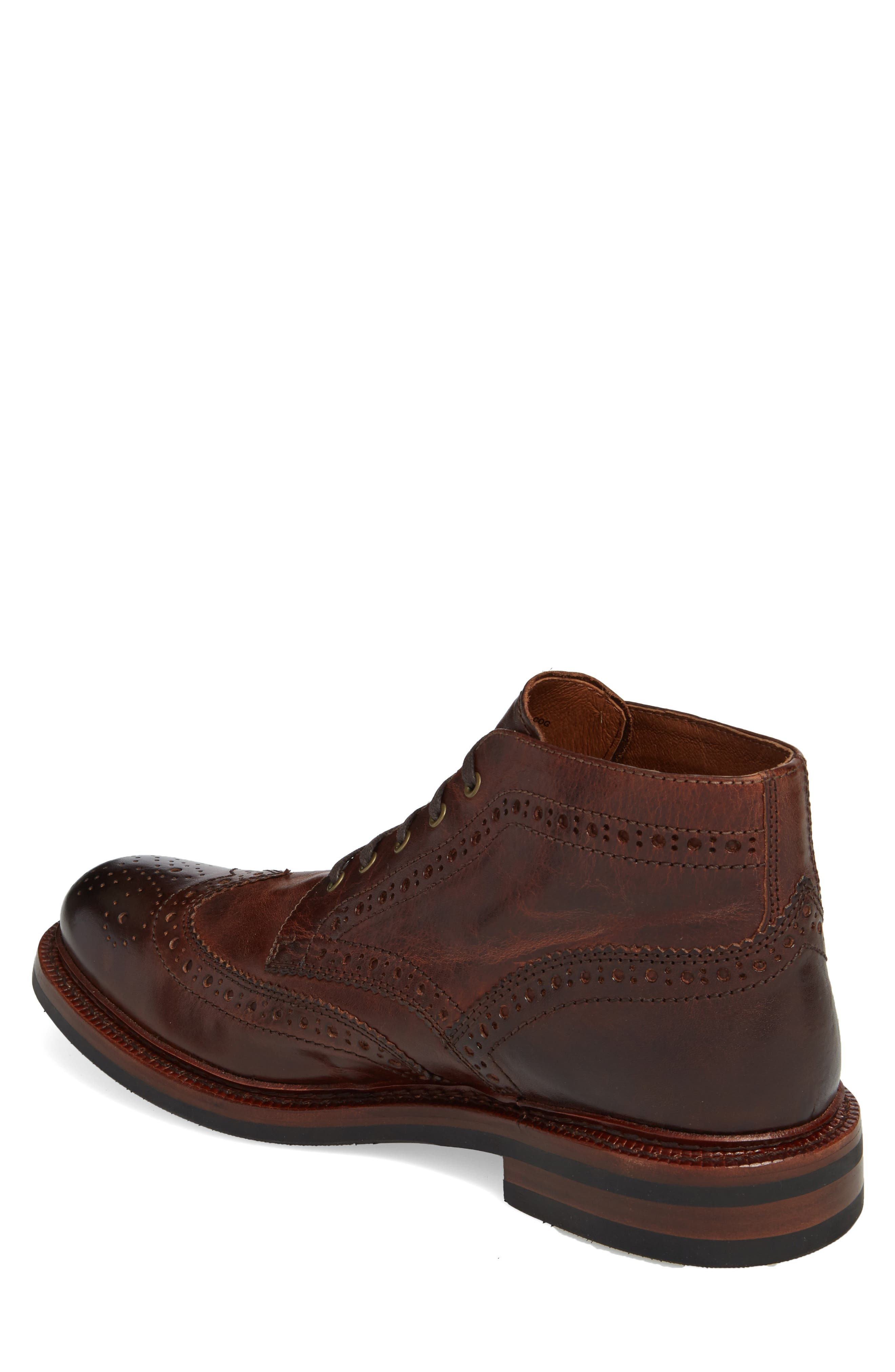 Graham Wingtip Boot,                             Alternate thumbnail 2, color,                             Cognac Leather