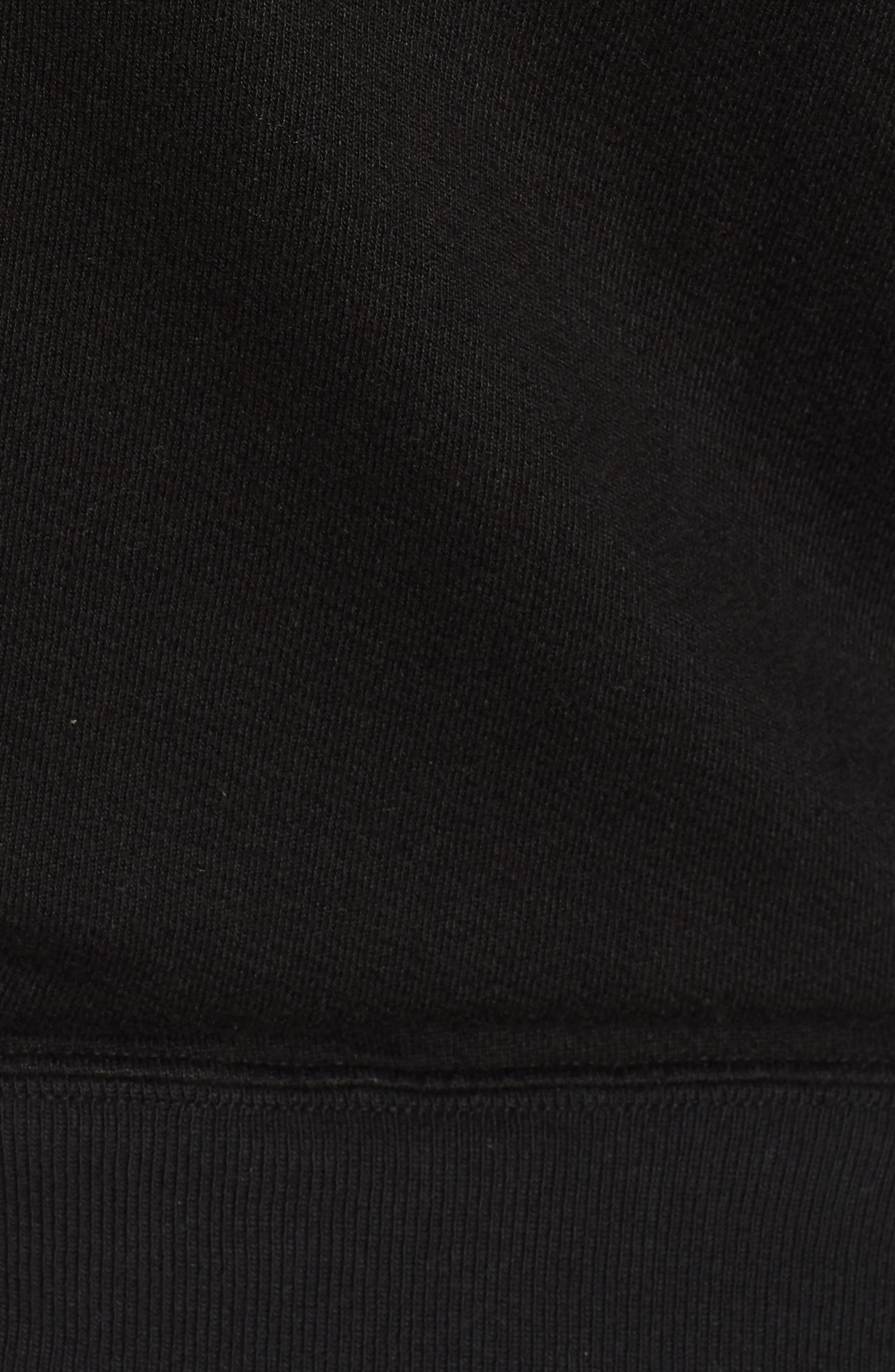 Mayer V-Neck Sweatshirt,                             Alternate thumbnail 5, color,                             Black Cat