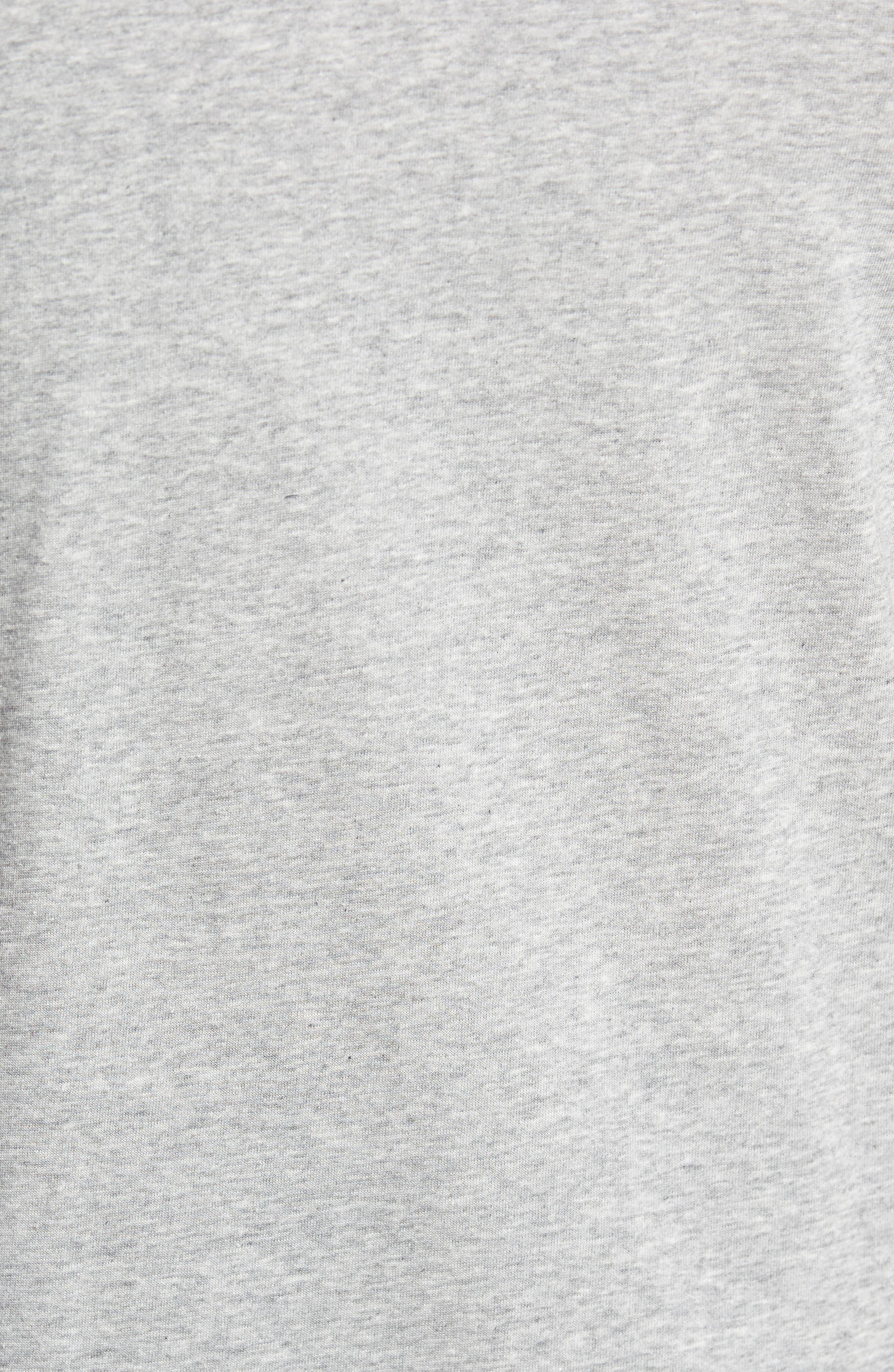 Dry Swooshie Crewneck T-Shirt,                             Alternate thumbnail 5, color,                             Dark Grey Heather/ Black