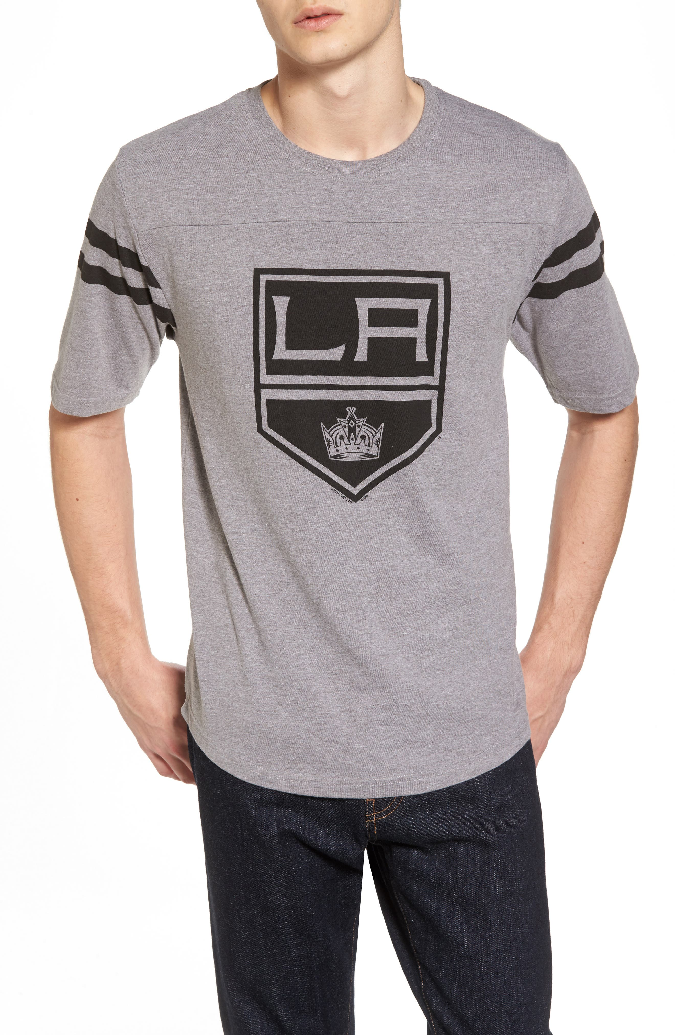 Crosby Los Angeles Kings T-Shirt,                             Main thumbnail 1, color,                             Heather Grey