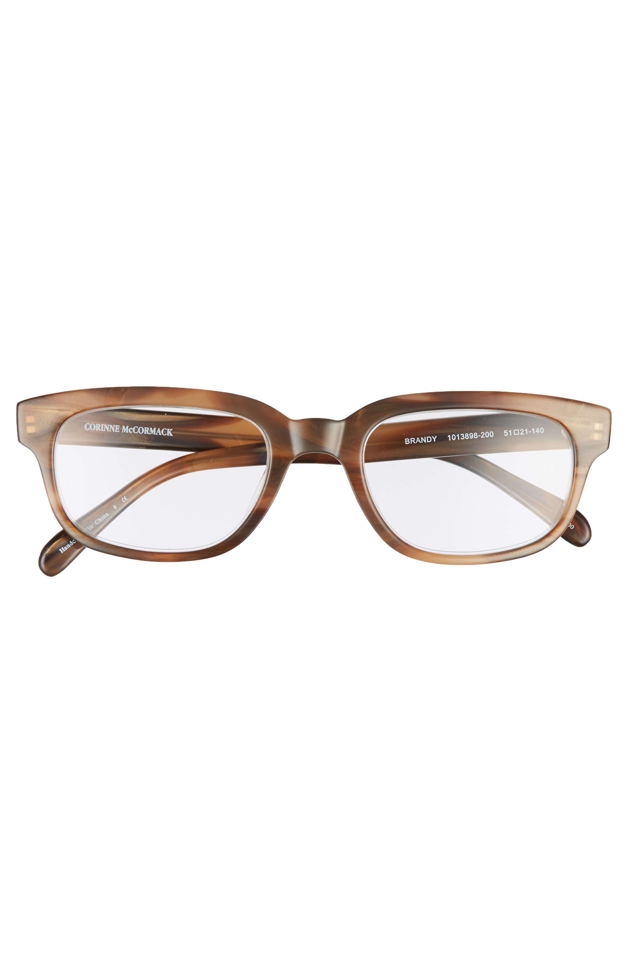 Corrine McCormack Brandy 51mm Reading Glasses,                             Alternate thumbnail 3, color,                             Brown