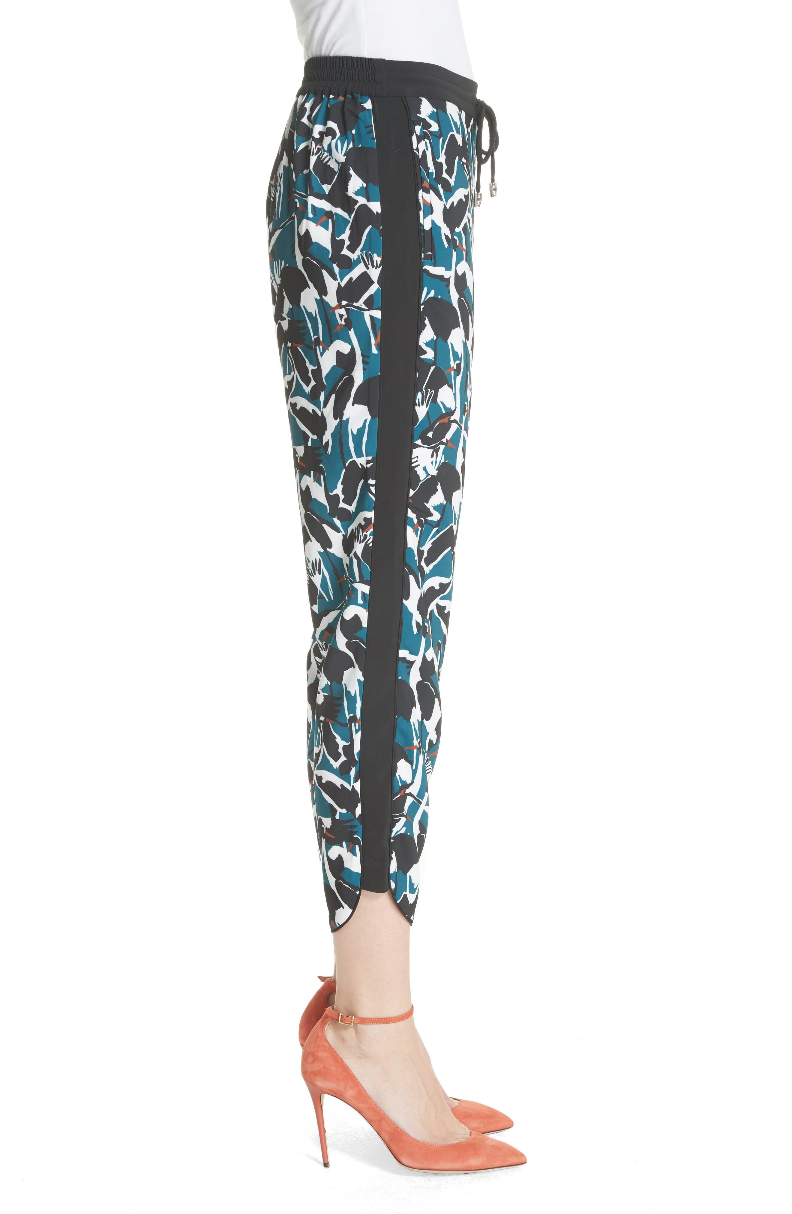 Colour by Numbers Print Jogger Pants,                             Alternate thumbnail 3, color,                             Teal