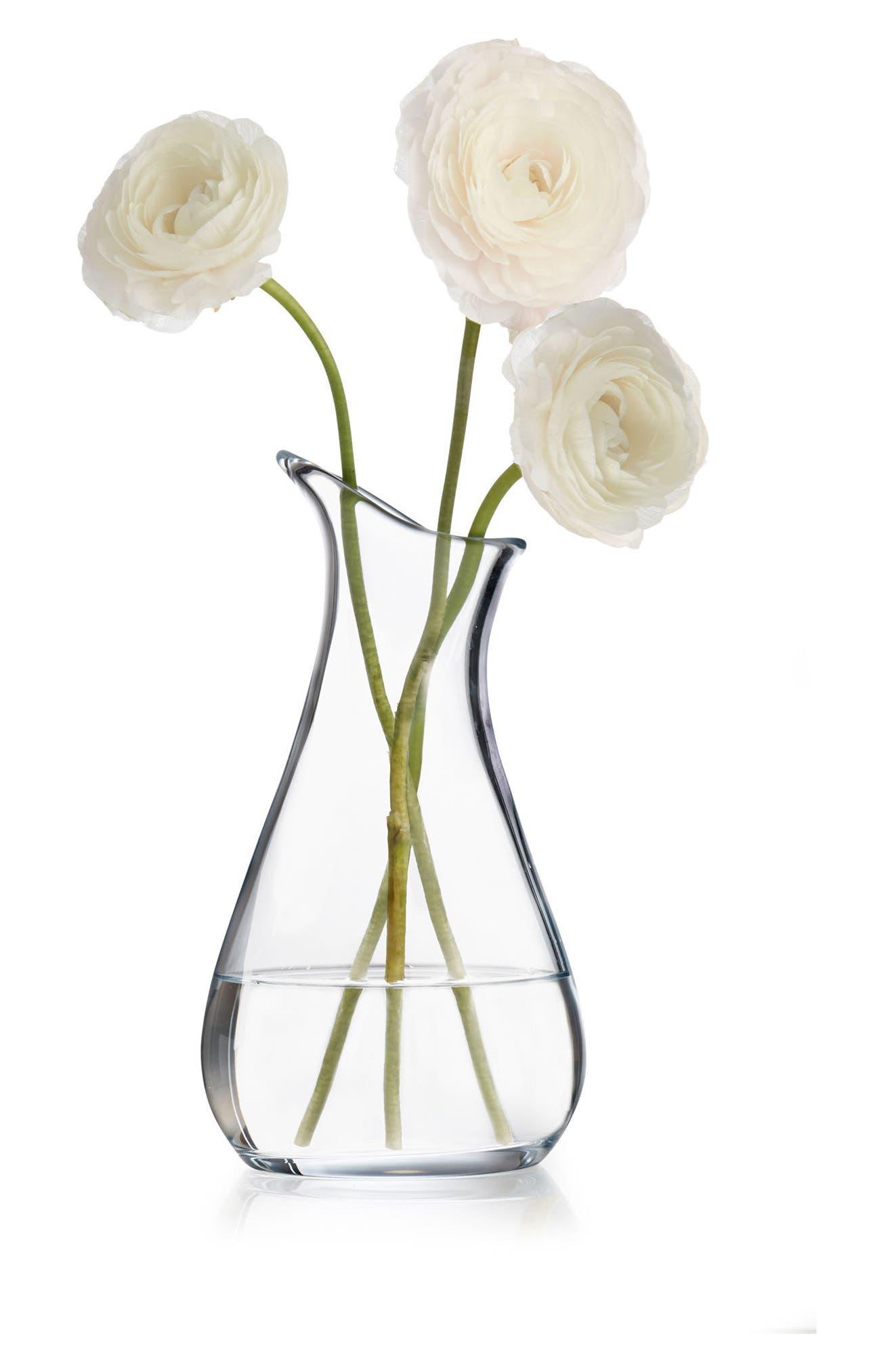Moderne Art Vase,                             Alternate thumbnail 2, color,                             Clear