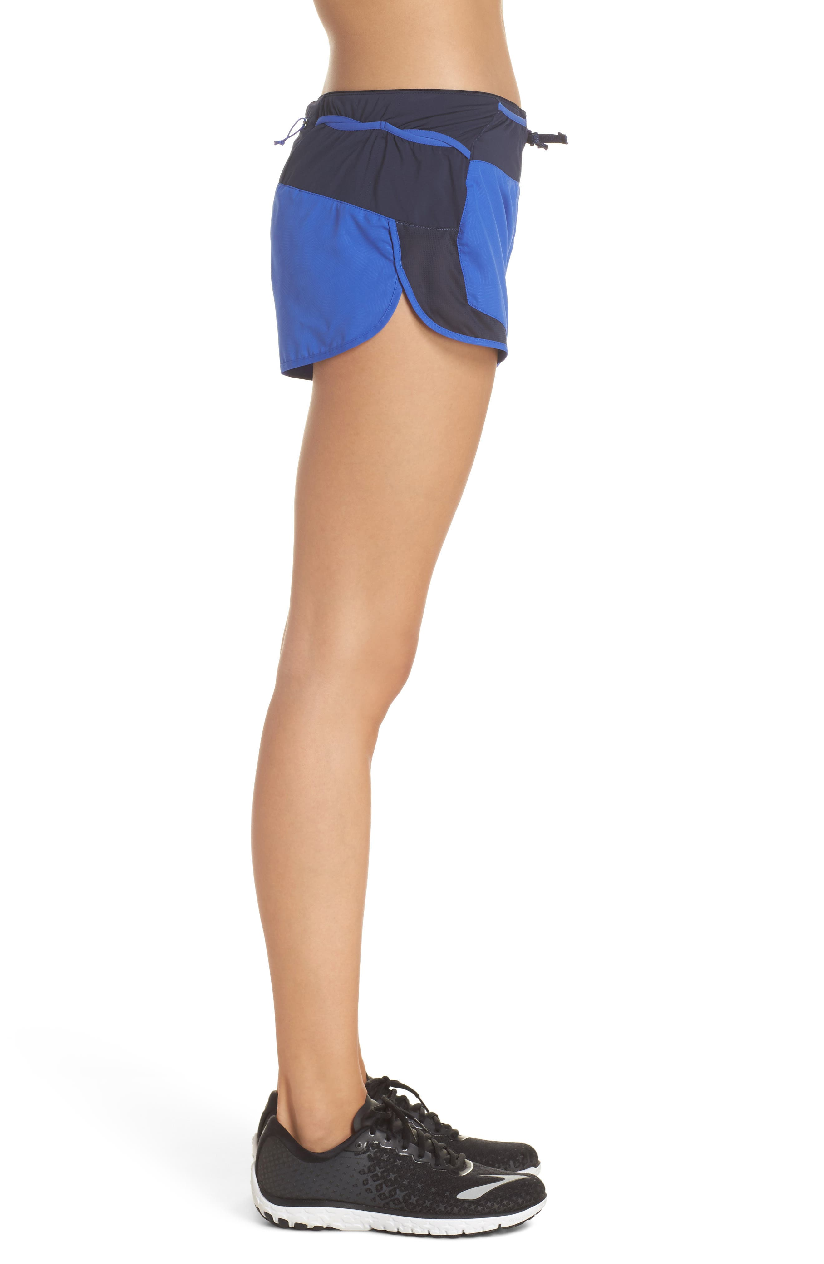 Strider Pro Trail Running Shorts,                             Alternate thumbnail 3, color,                             Hexy - Imperial Blue