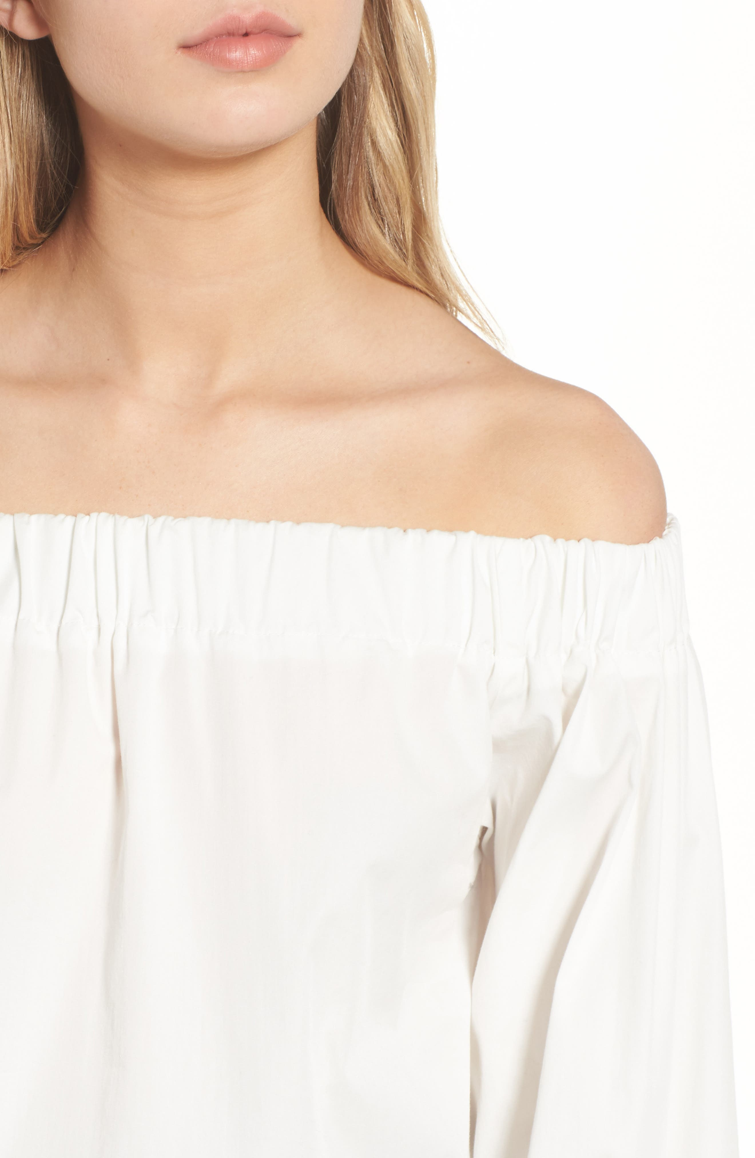 Off the Shoulder Top,                             Alternate thumbnail 4, color,                             White