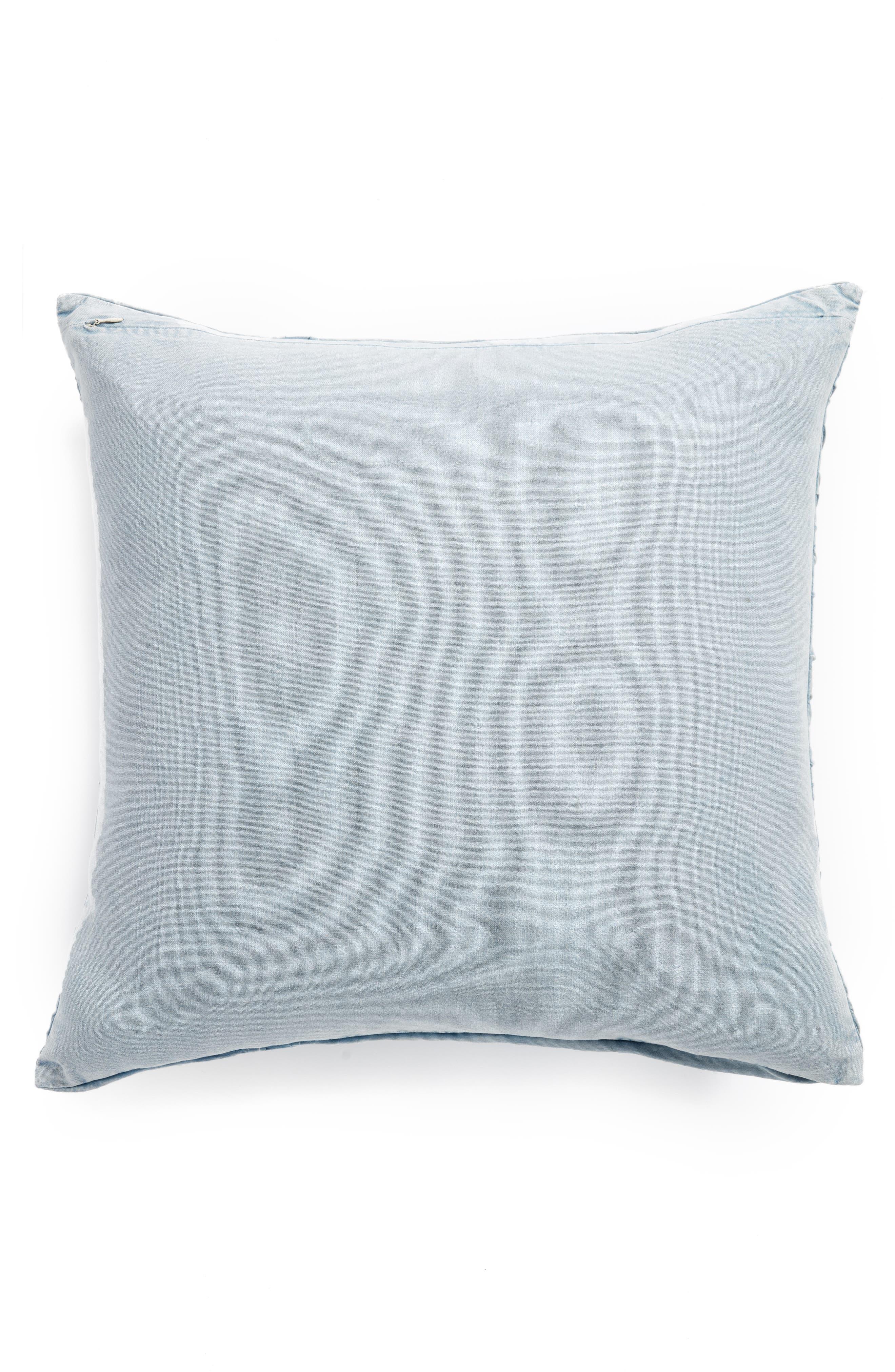 Stonewash Jersey Accent Pillow,                             Alternate thumbnail 2, color,                             Blue Ashley