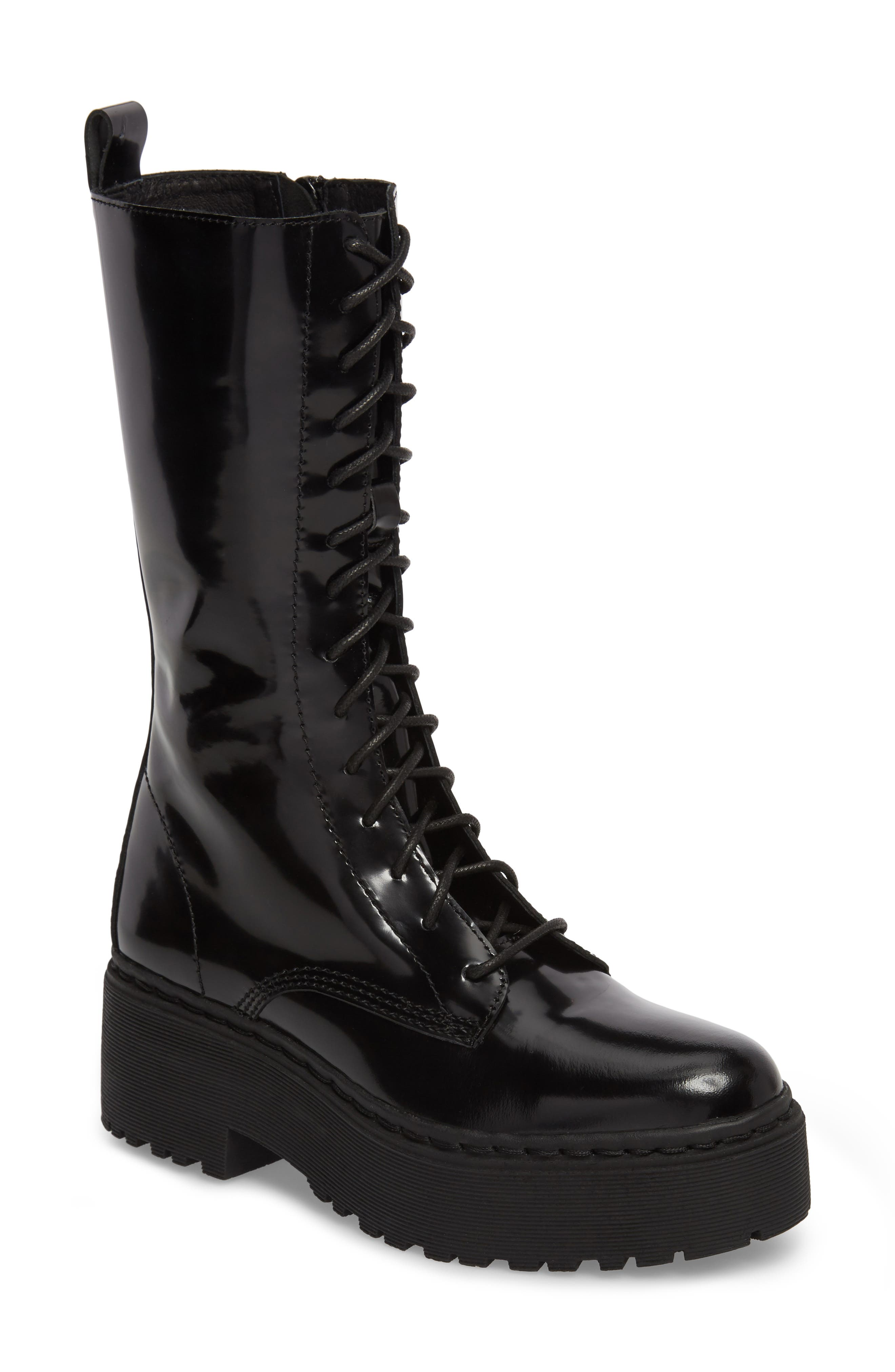 Finnick Lace-Up Boot,                             Main thumbnail 1, color,                             Black Box
