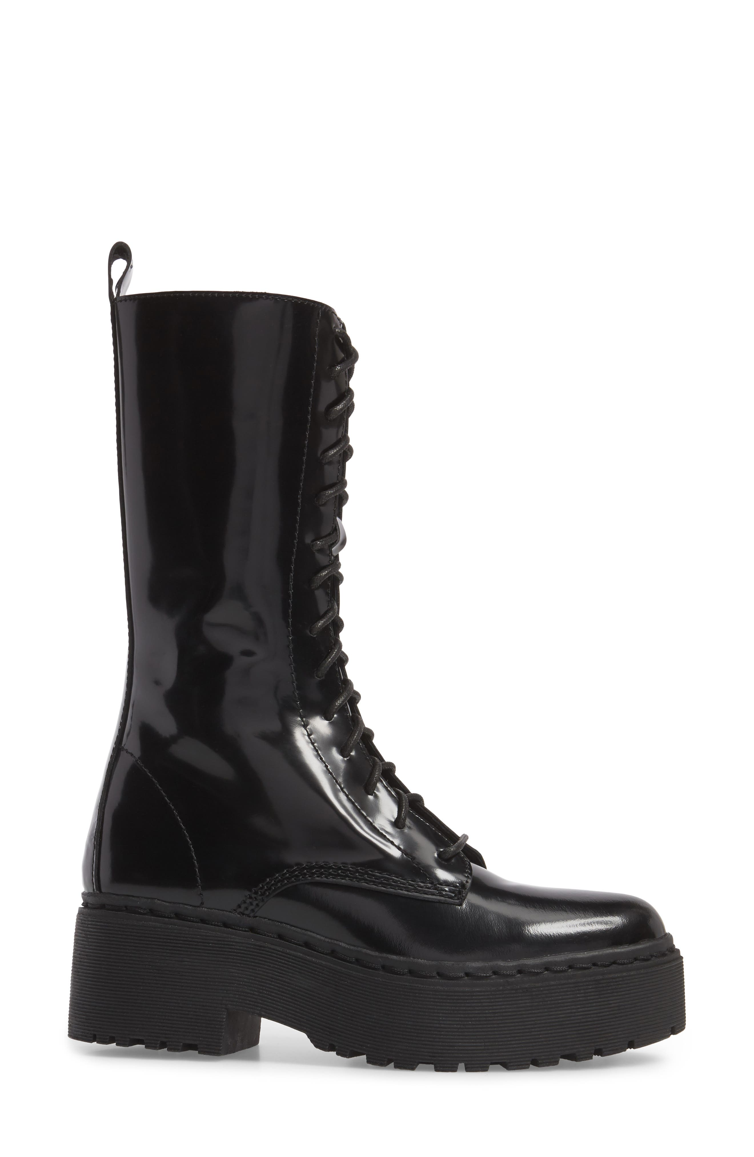 Finnick Lace-Up Boot,                             Alternate thumbnail 3, color,                             Black Box