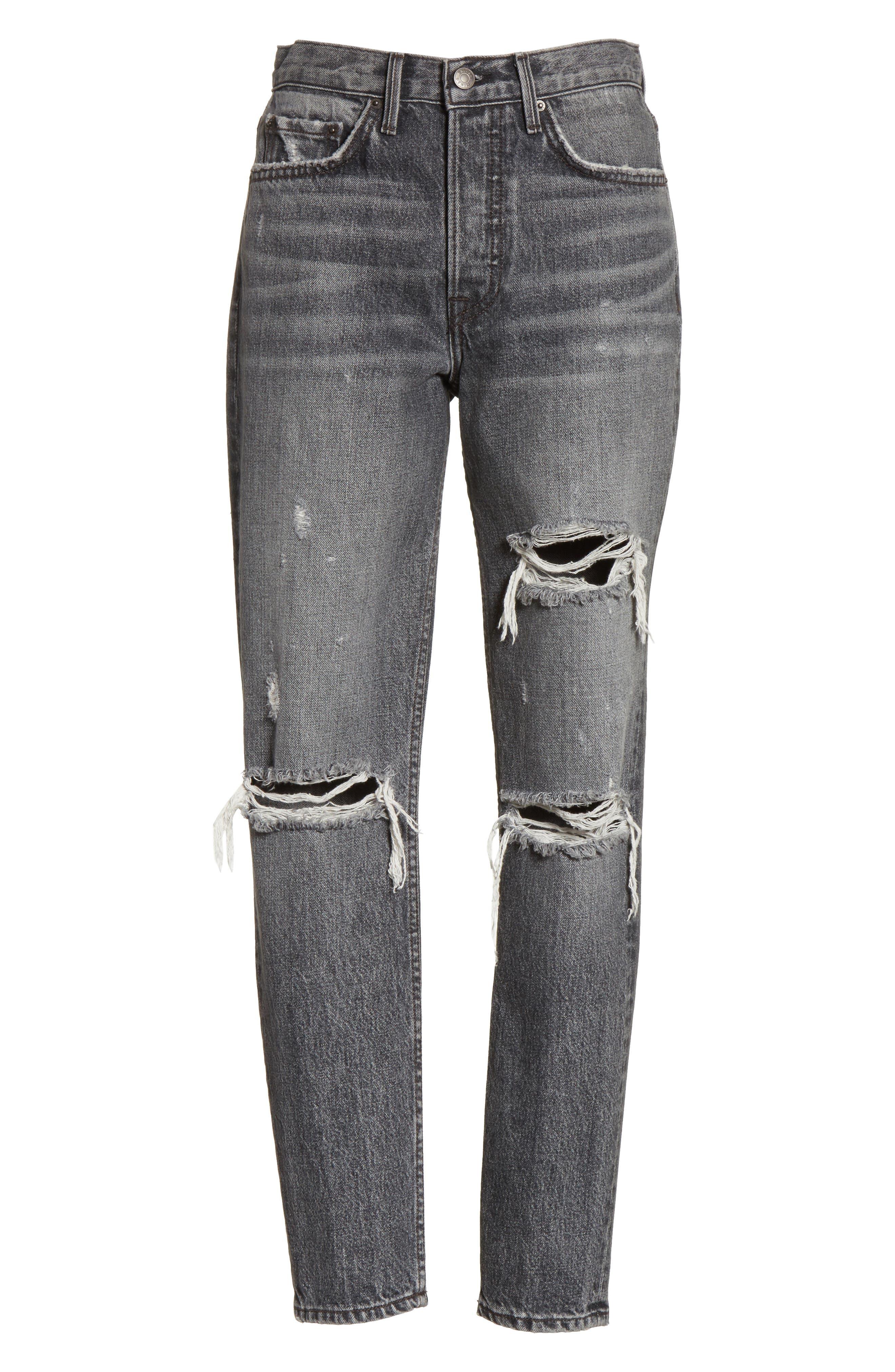 Karolina High Waist Skinny Jeans,                             Alternate thumbnail 6, color,                             Flint