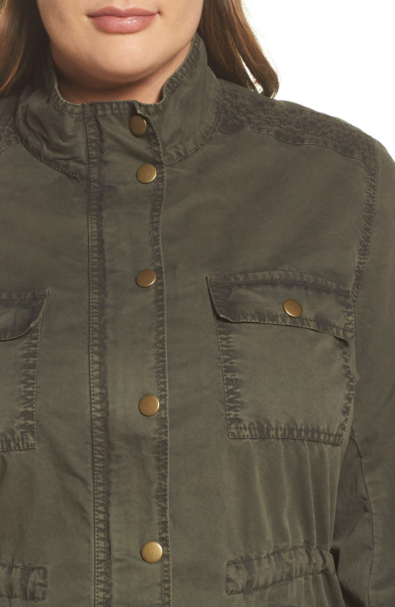 Utility Jacket,                             Alternate thumbnail 4, color,                             Olive Sarma