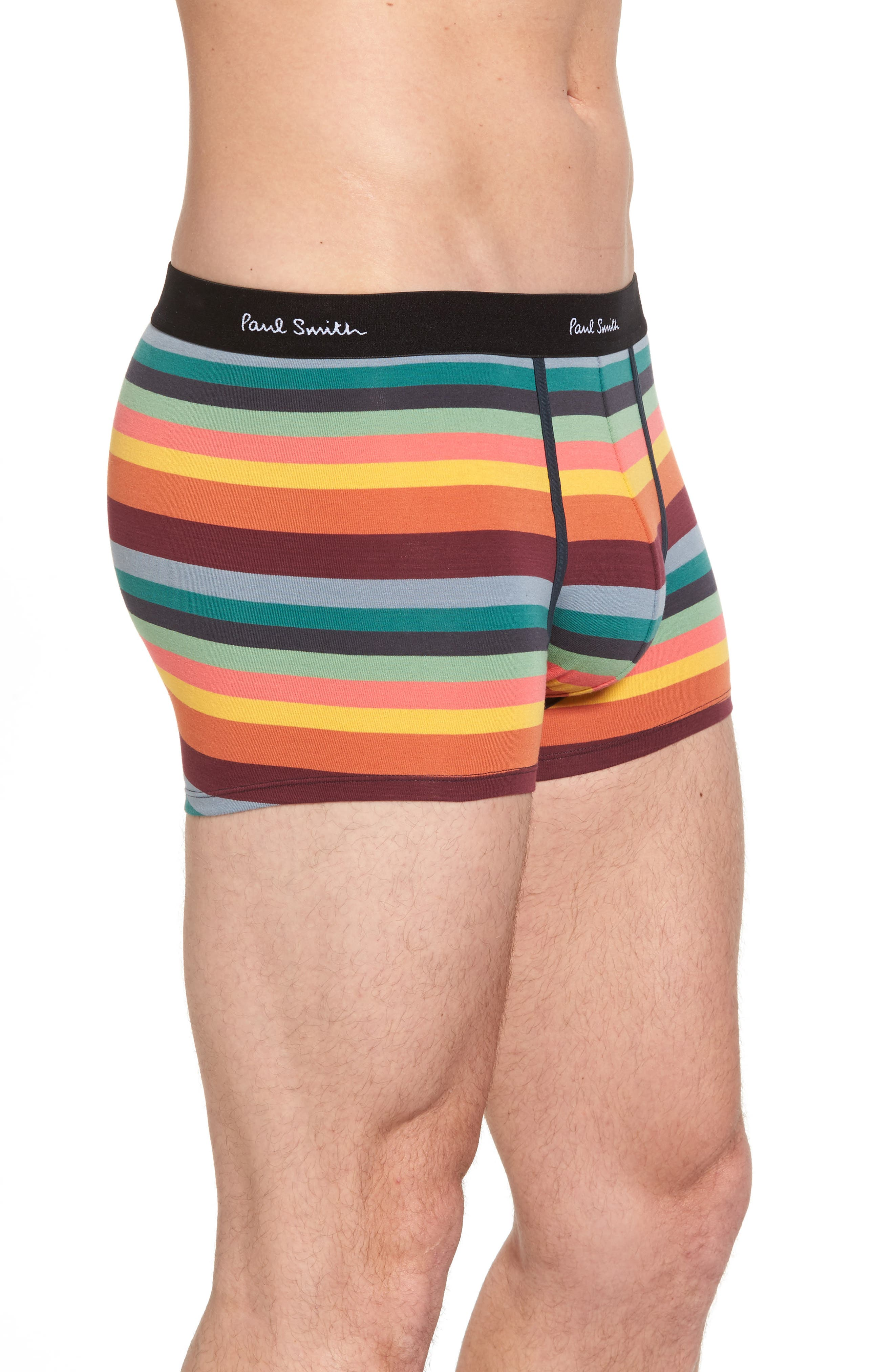 3-Pack Assorted Square Cut Trunks,                             Alternate thumbnail 4, color,                             Black/ Multi Stripe