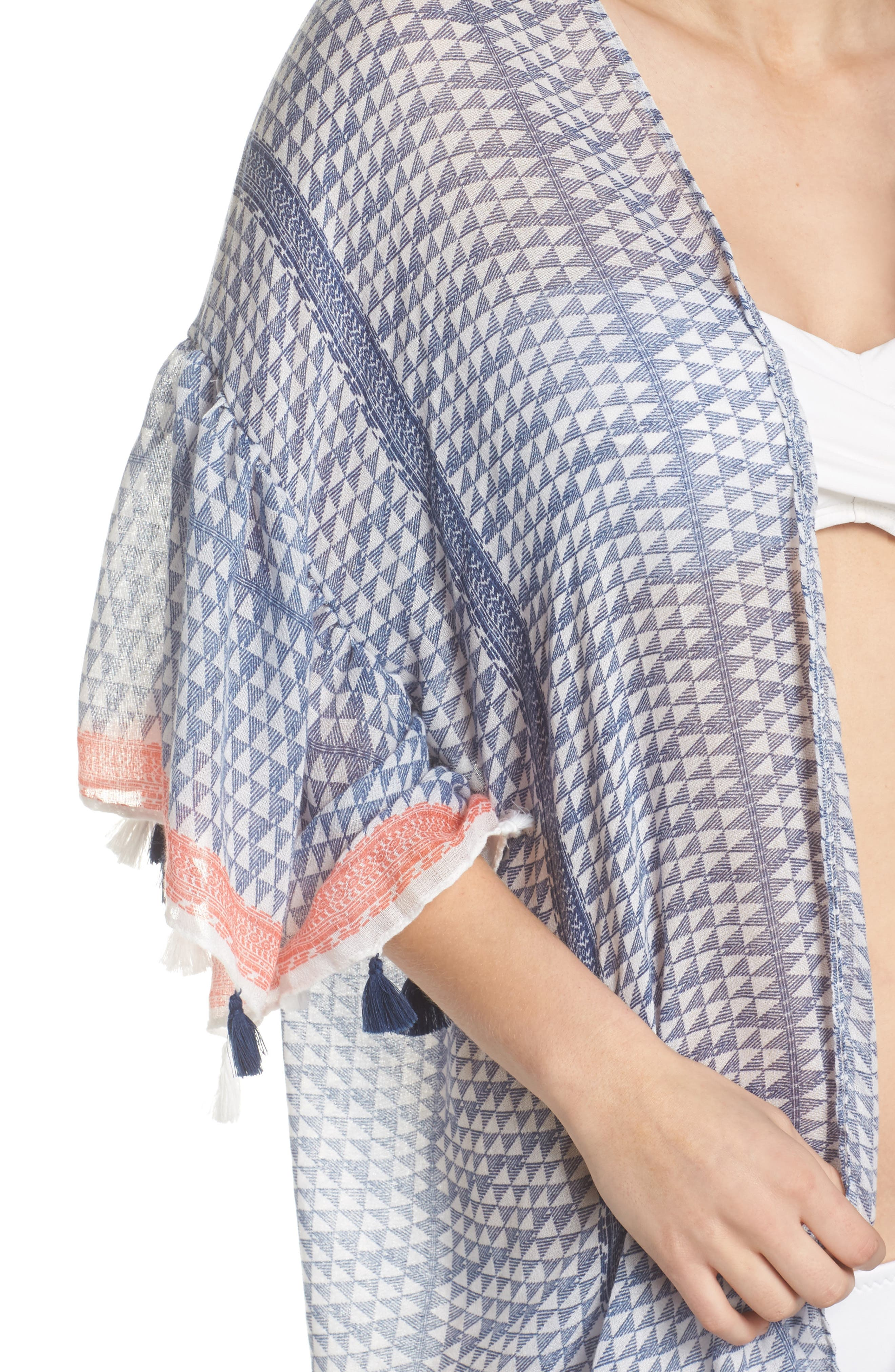 Ruffle Topper Cover-Up,                             Alternate thumbnail 4, color,                             Blu