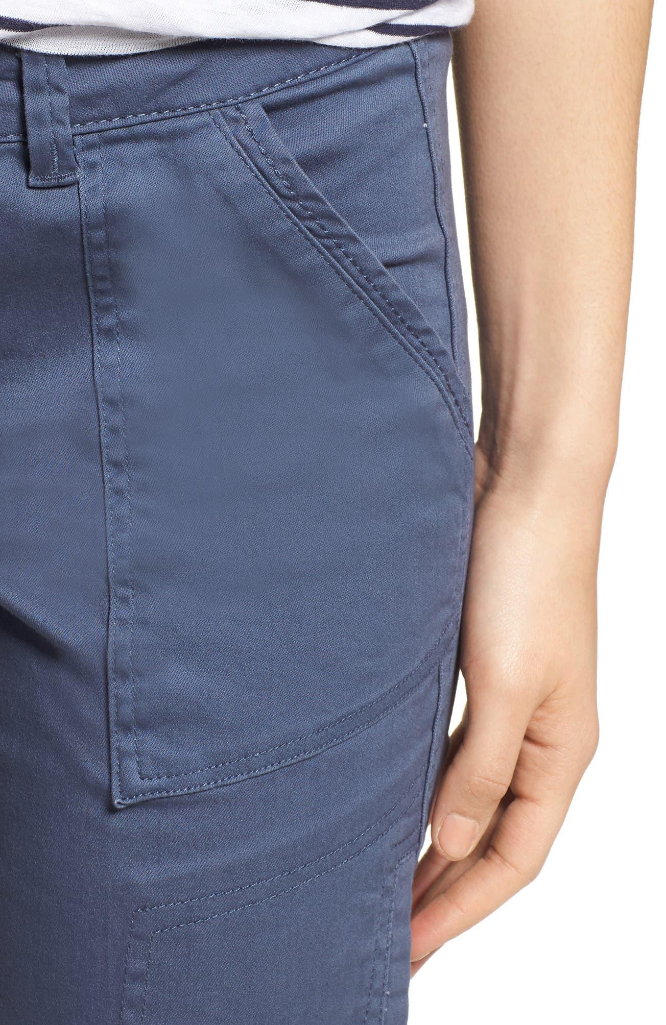 Twill Cargo Pants,                             Alternate thumbnail 4, color,                             Slate Blue