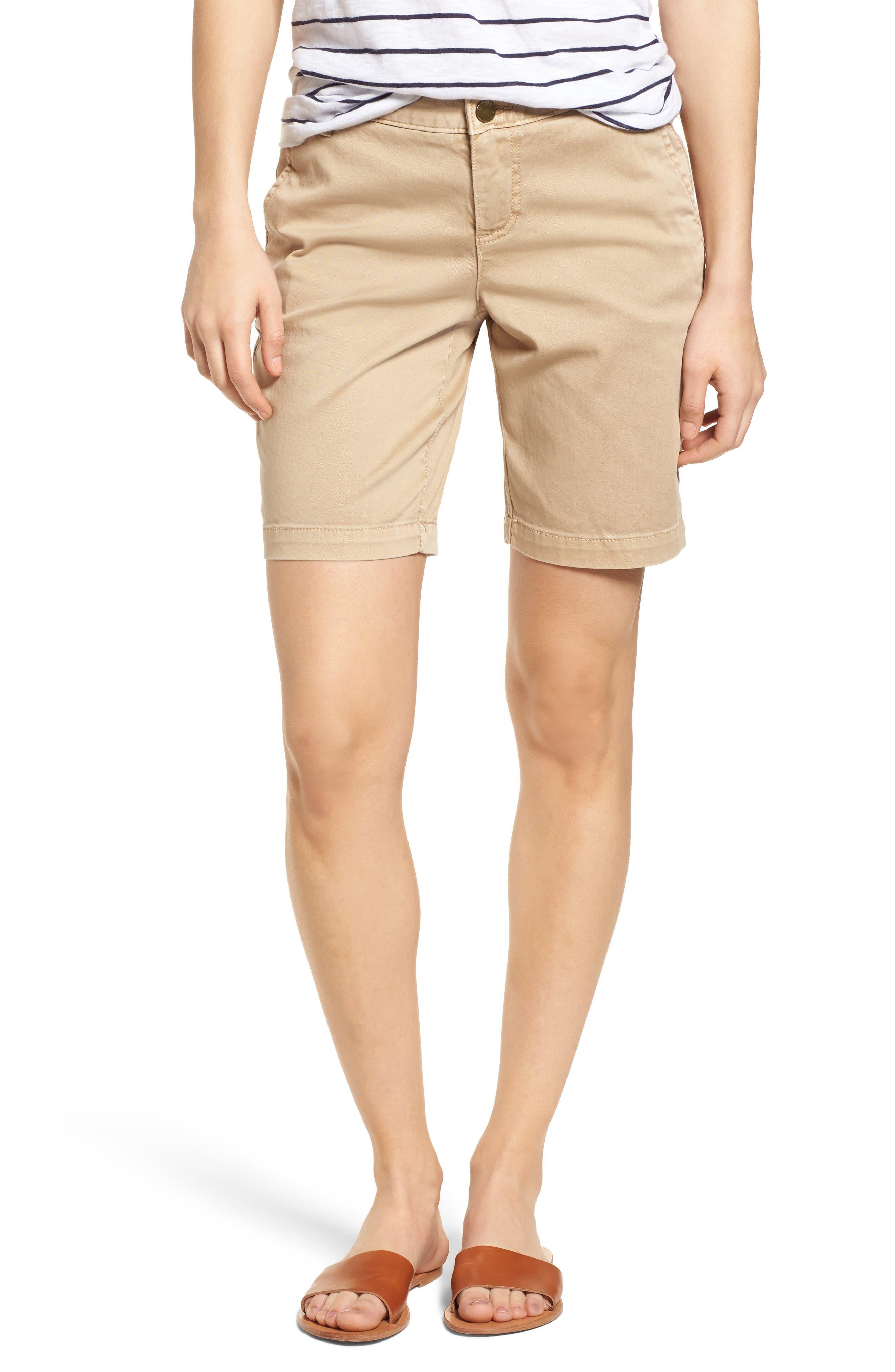 Twill Shorts,                         Main,                         color, Tan Oxford